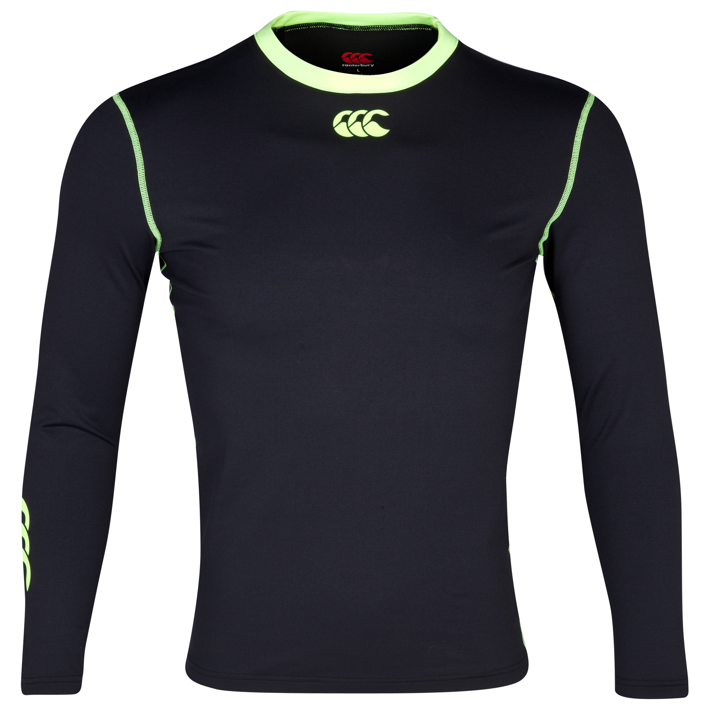 Canterbury Cold Fluo Base Layer Top - Long Sleeve Black