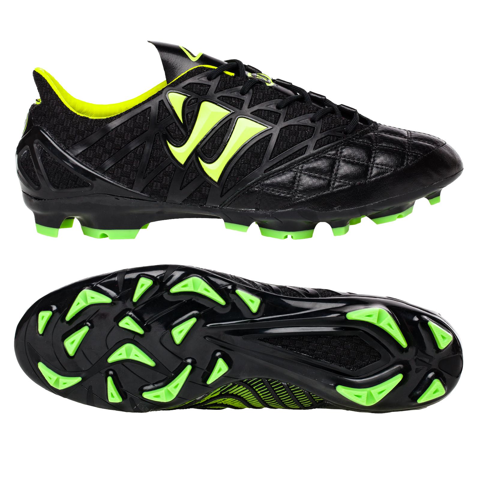 Warrior Sports Gambler K-Lite Firm Ground Football Boots-Blk/Grn Black