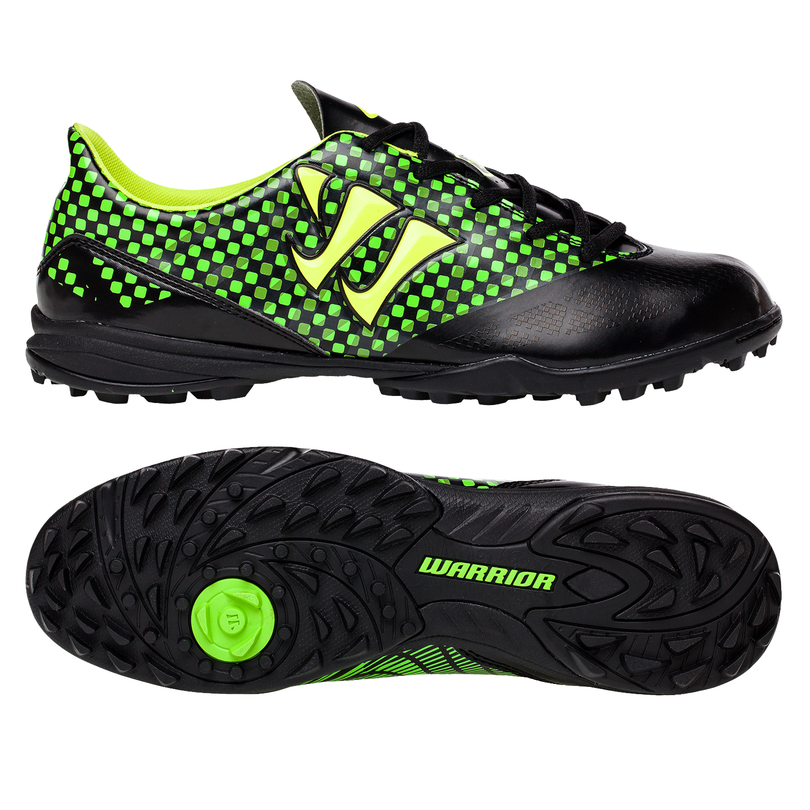 Warrior Sports Gambler Combat Astroturf Trainers -Blk/Grn Black