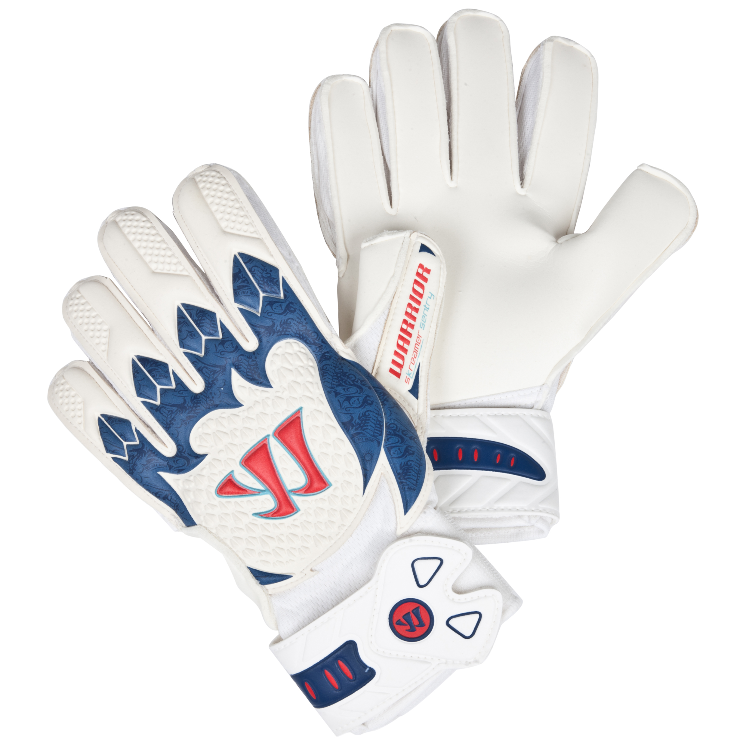 Warrior Sports Skreamer Sentry Goalkeeper Gloves-Wht/Navy/Red White