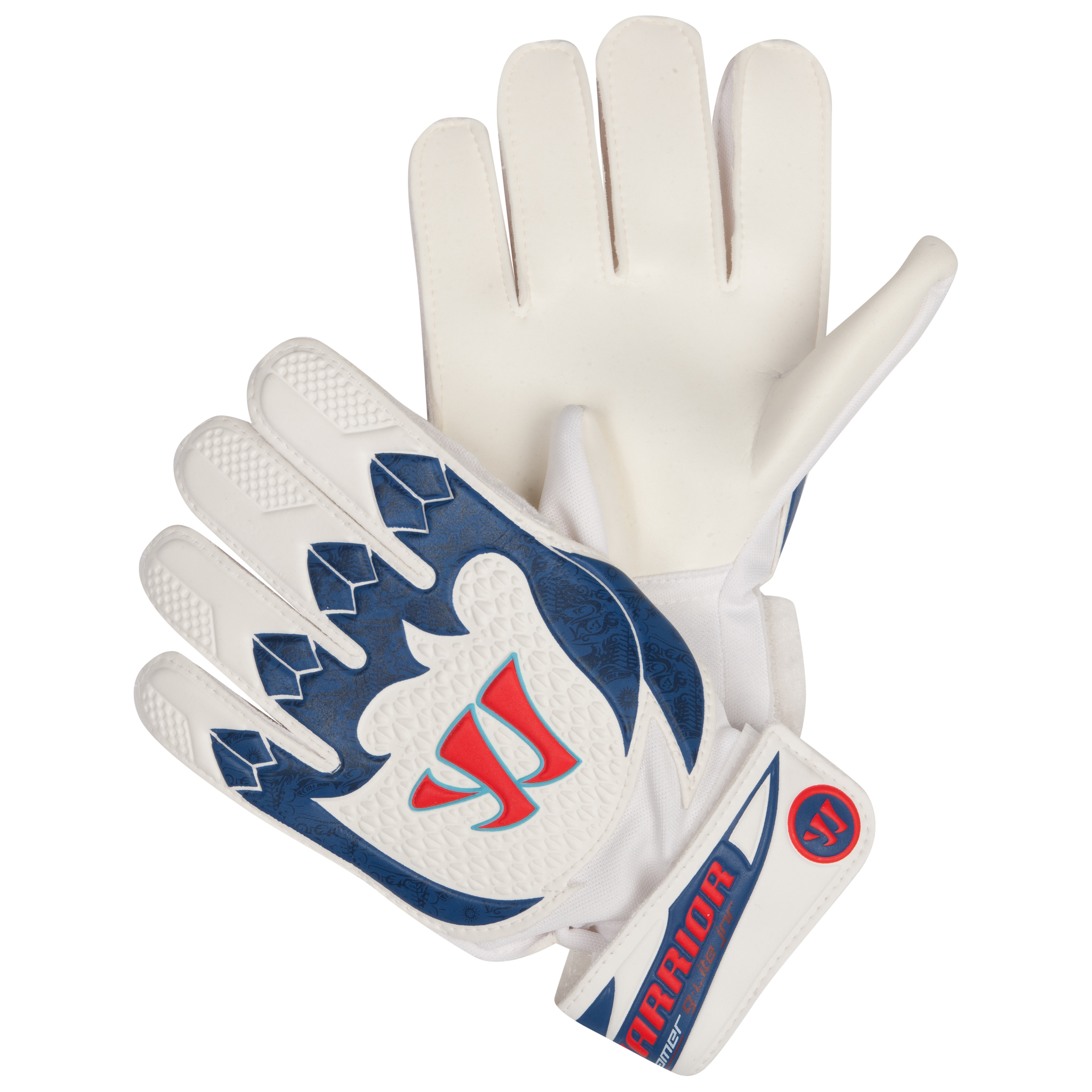 Warrior Sports Skreamer G-Lite Junior Goalkeeper Gloves-Wht/Navy/Red White