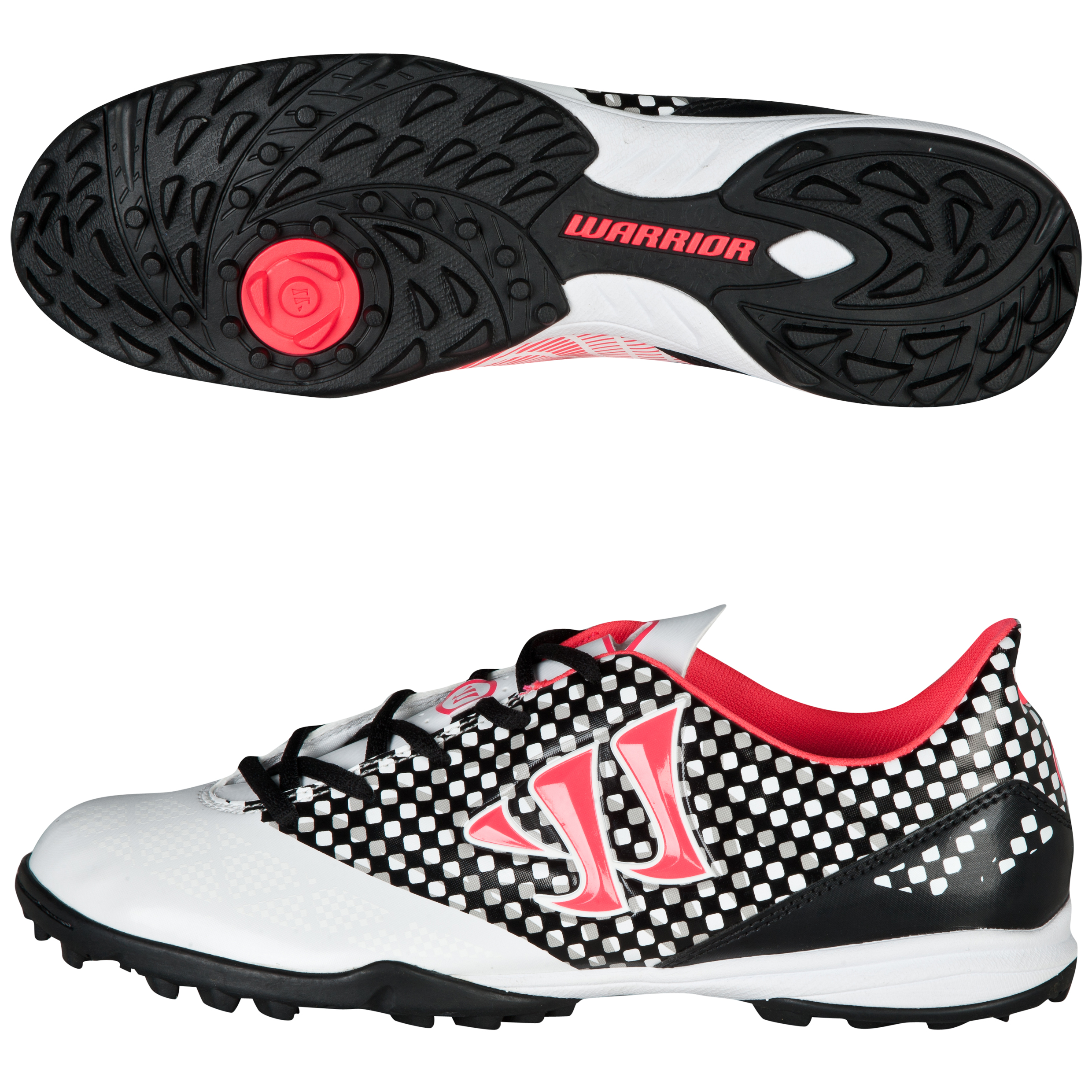 Warrior Sports Gambler Combat Astroturf Trainers-Wht/Blk/Pink White