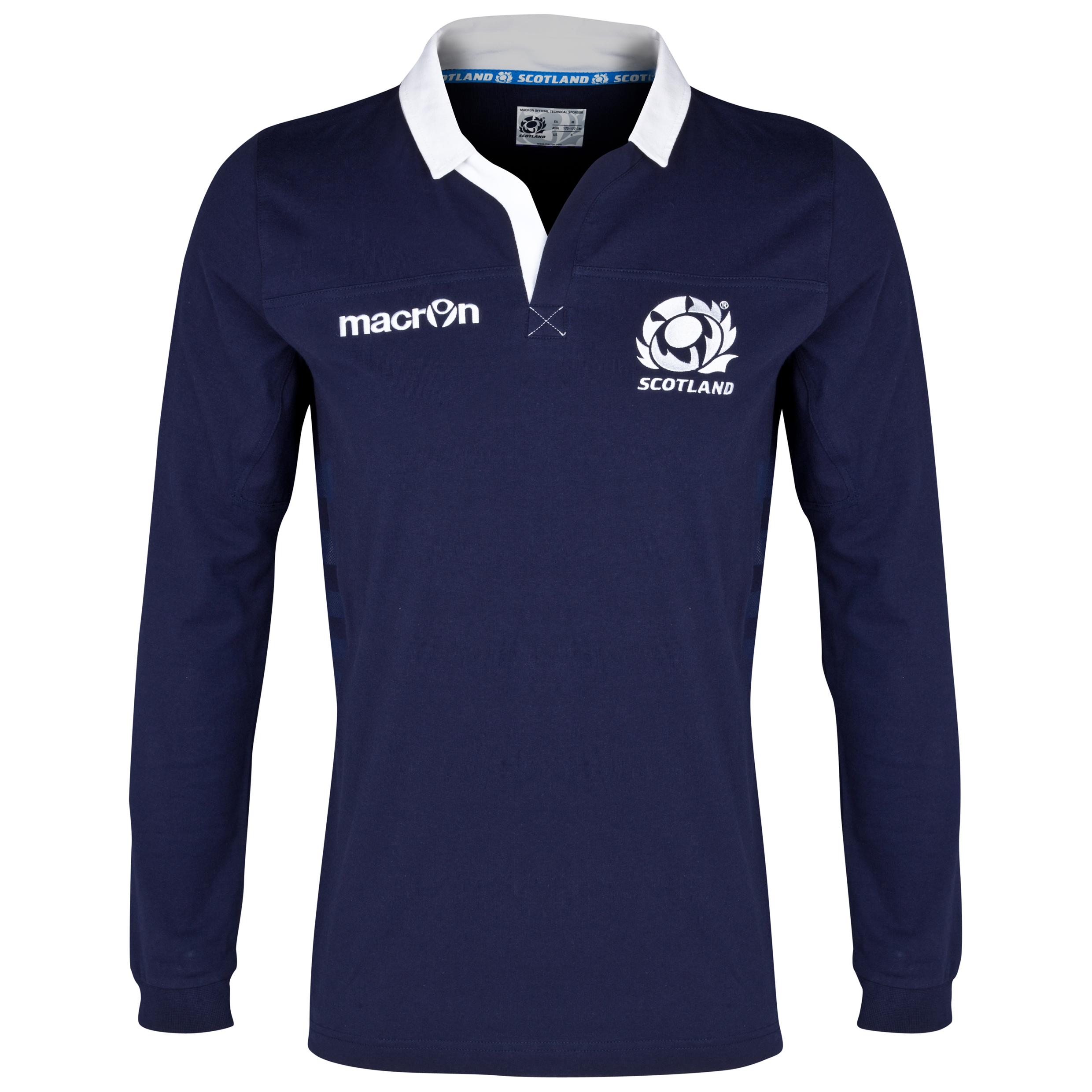 Scotland Rugby Cotton Home Shirt 2013/15 - Long Sleeved