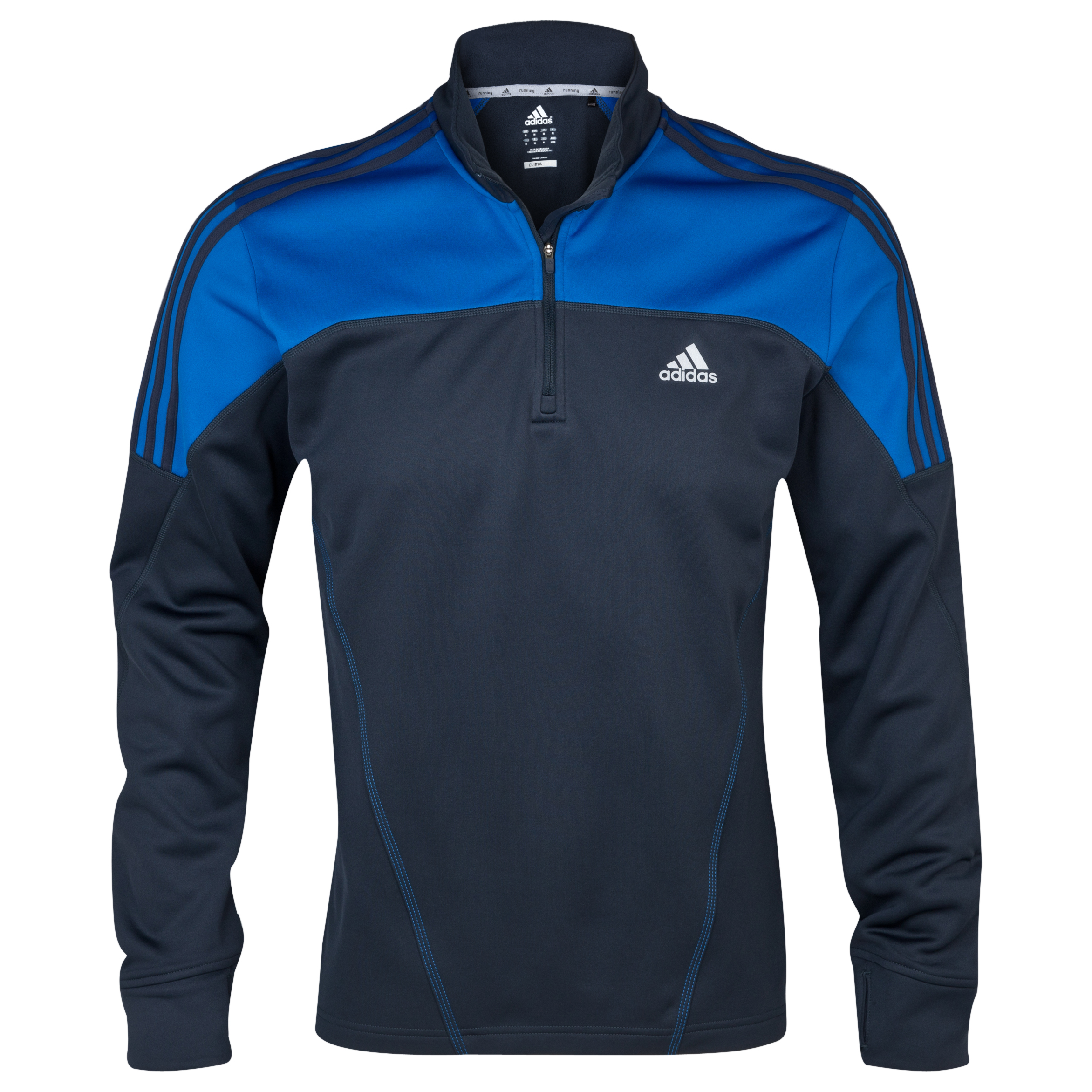 Adidas Response DS Fleece LS Top - Night Shade/Blue Beauty Blue