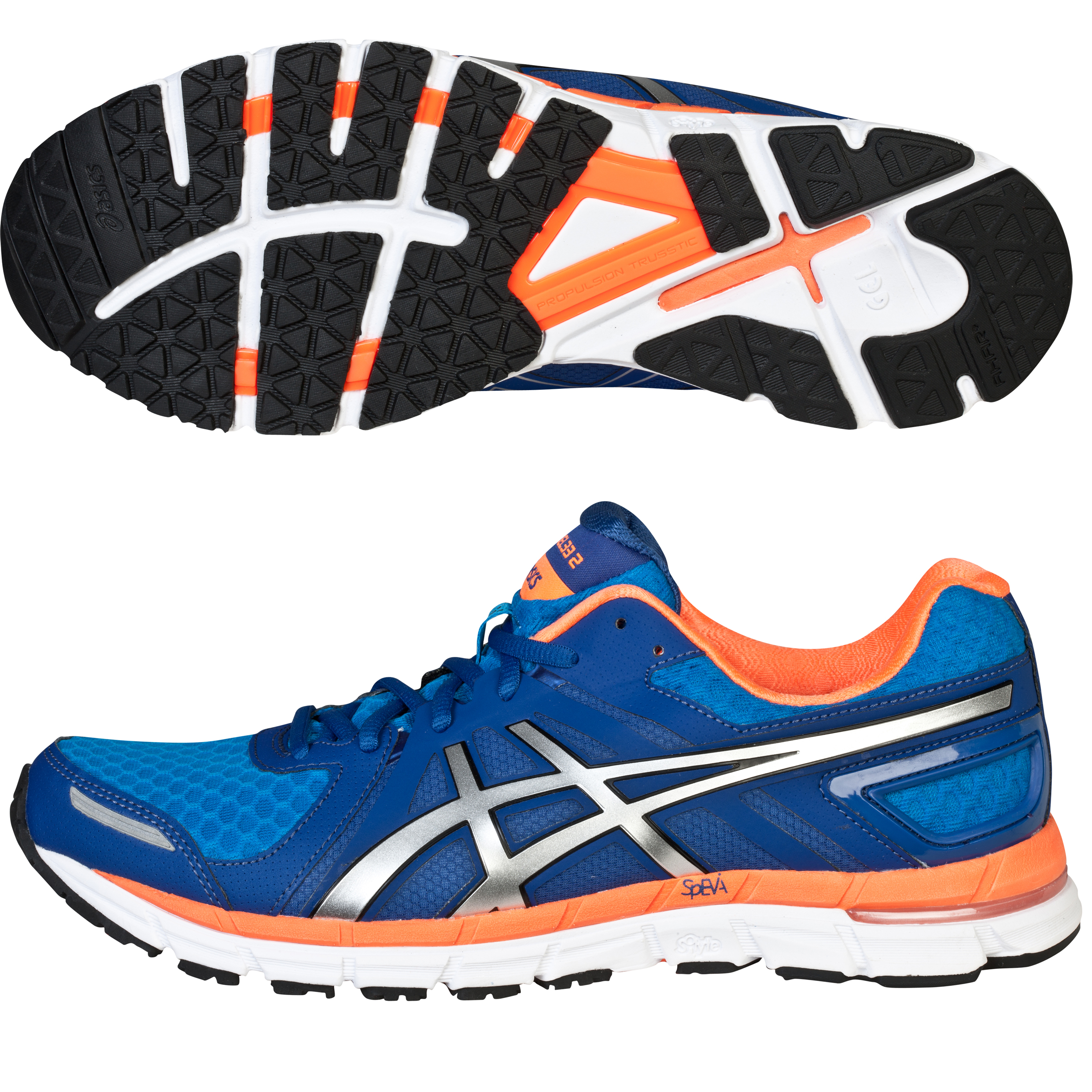 Asics Gel-Excel33 2 Trainer - Sapphire/Lightning/Neon Orange Blue