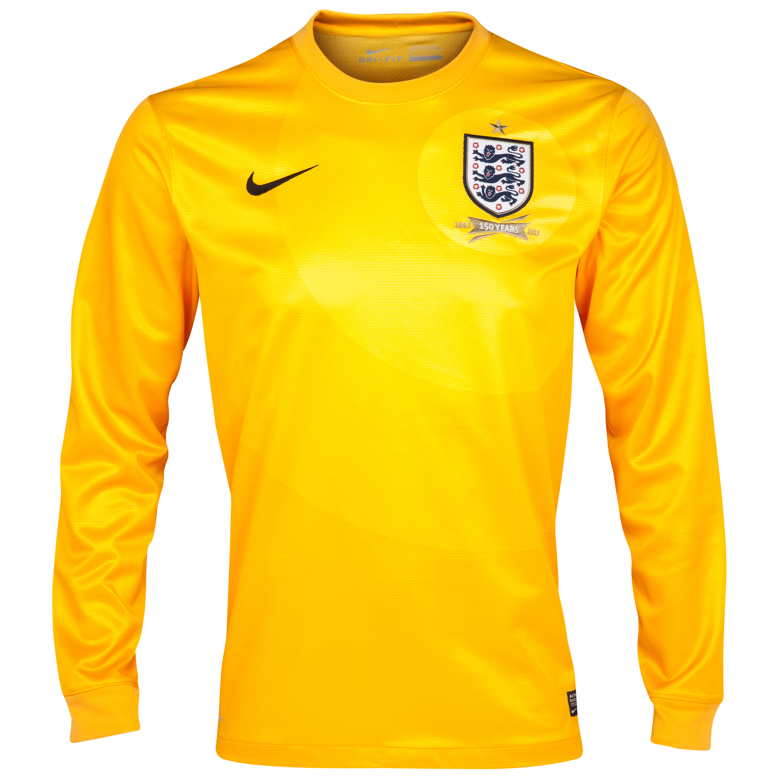 England Away Goalkeeper Shirt 2013/14 Long Sleeve Kids Gold