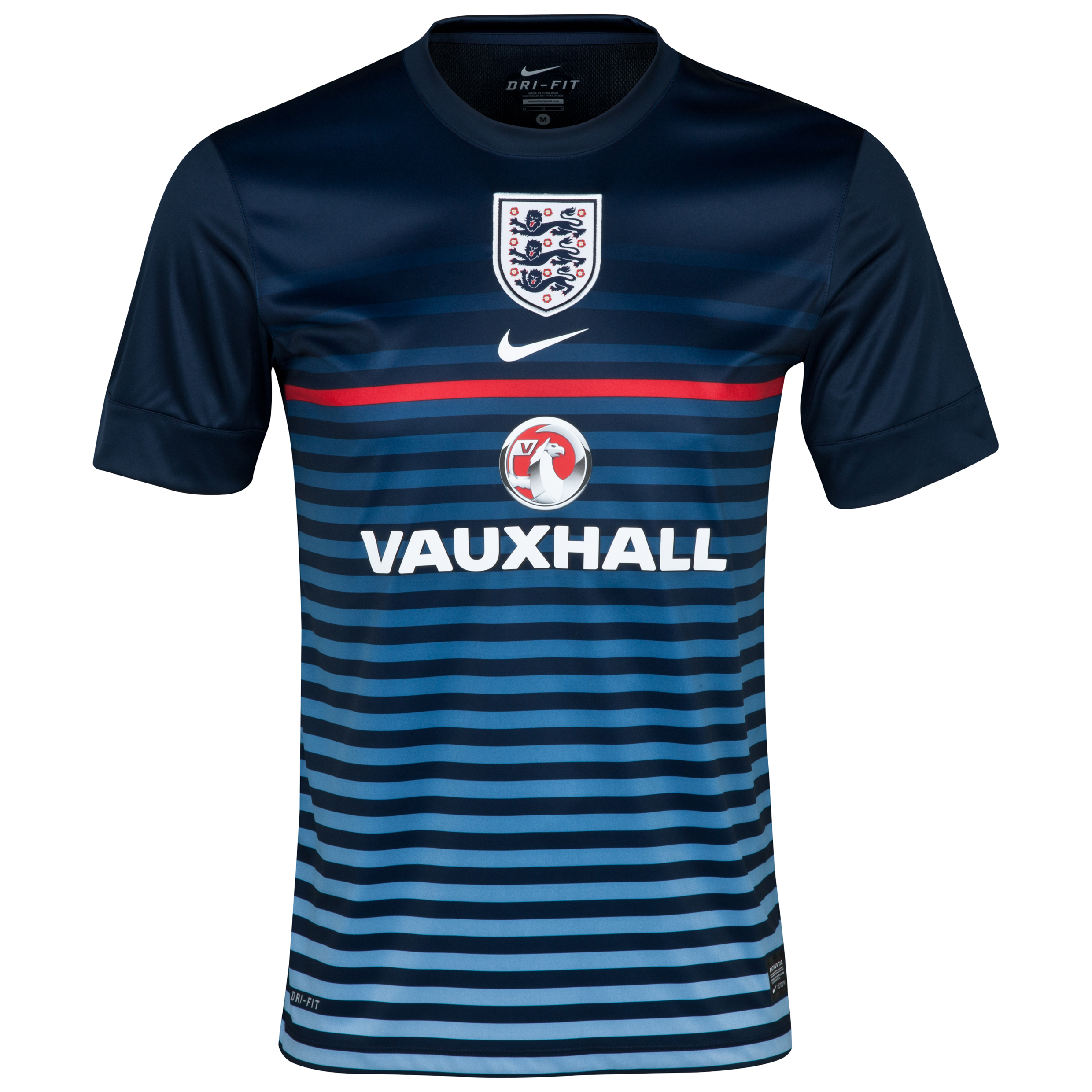 England Short Sleeve Pre Match Top 2 - Mens Navy