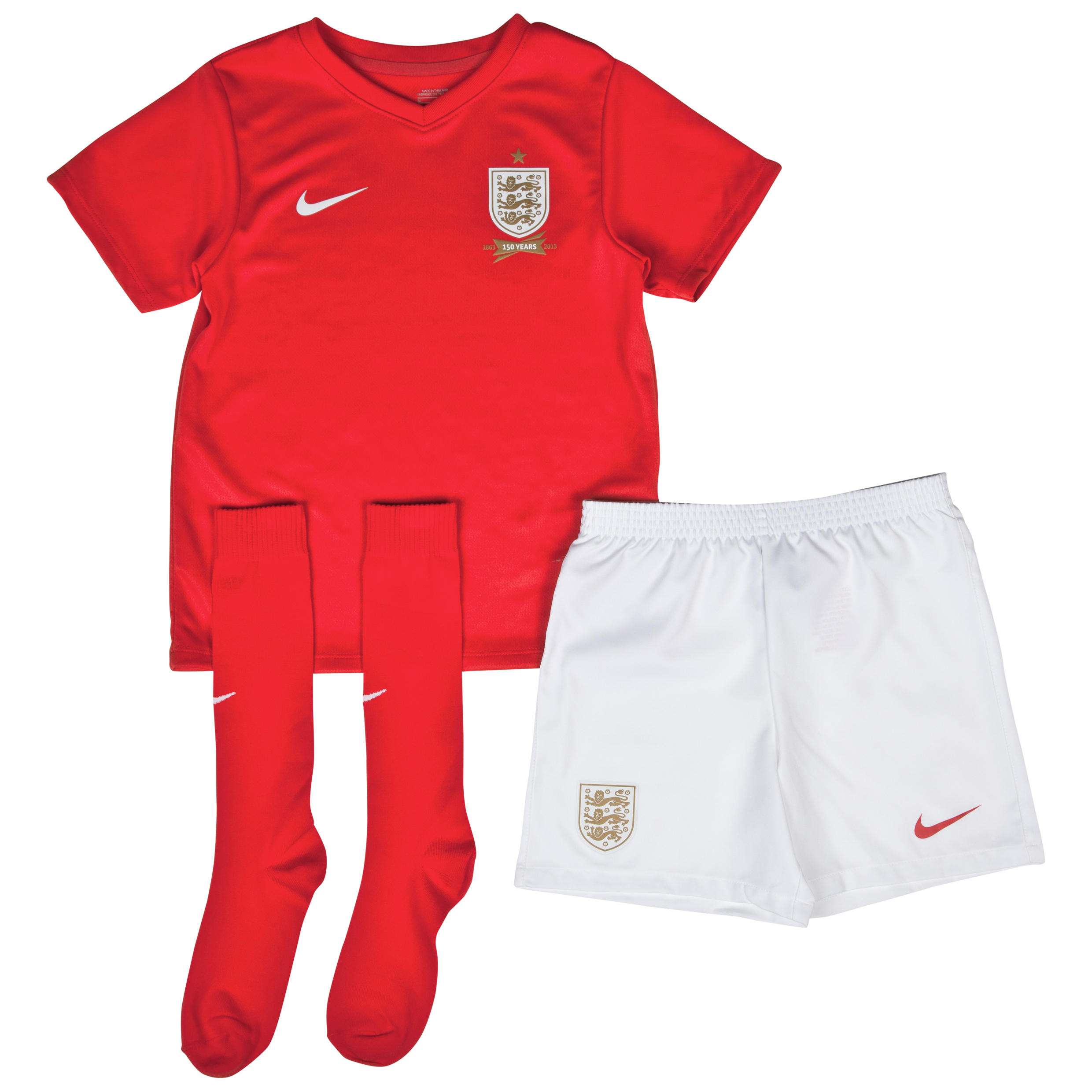 England Away Kit 2013/14 - Little Boys Red