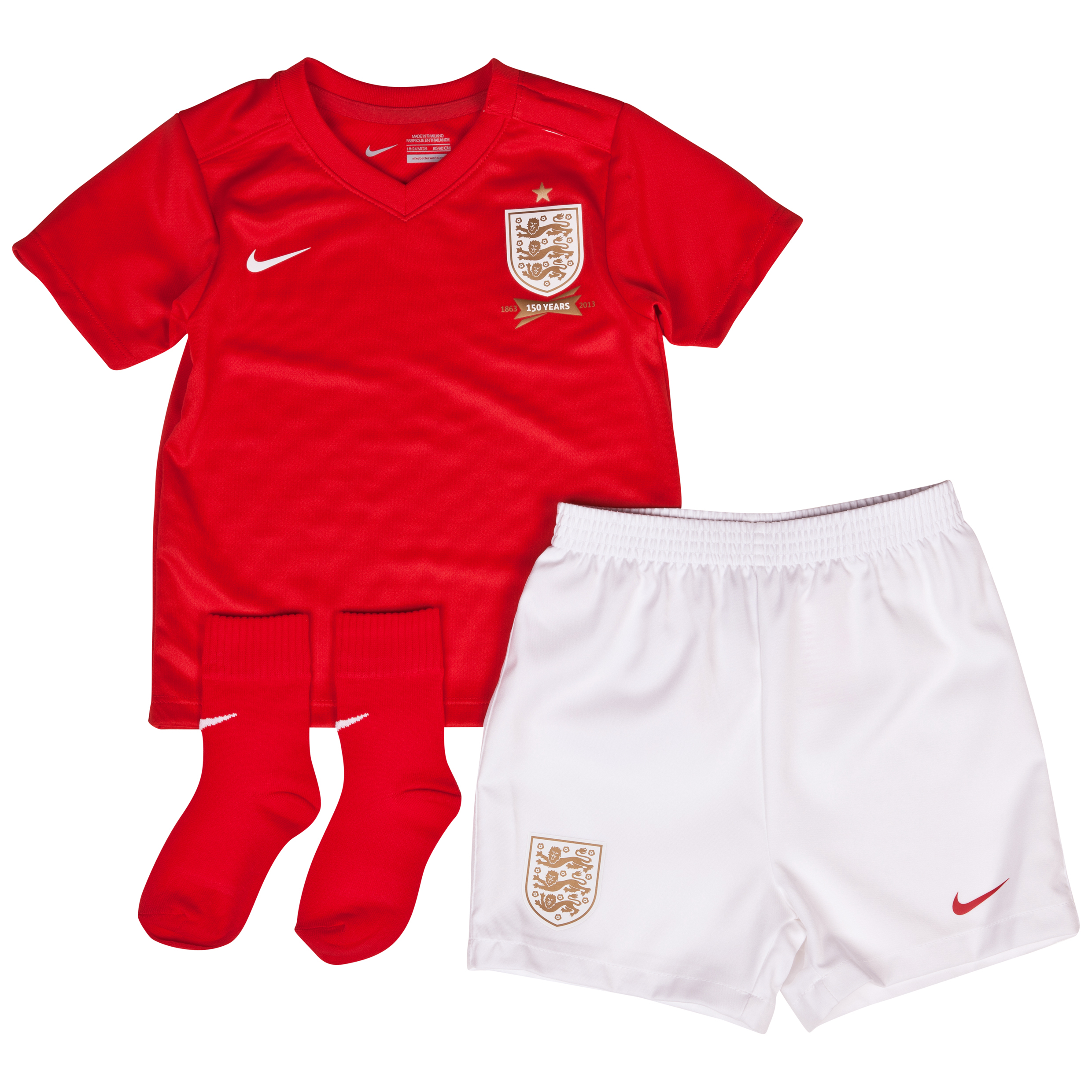 England Away Kit 2013/14 Infants Red