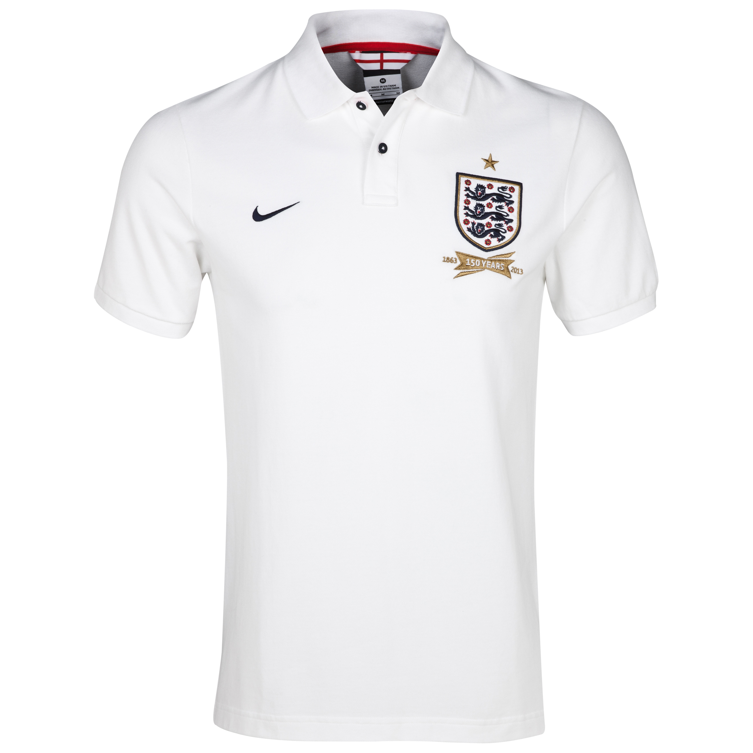 England Authentic Grand Slam Polo - Mens White