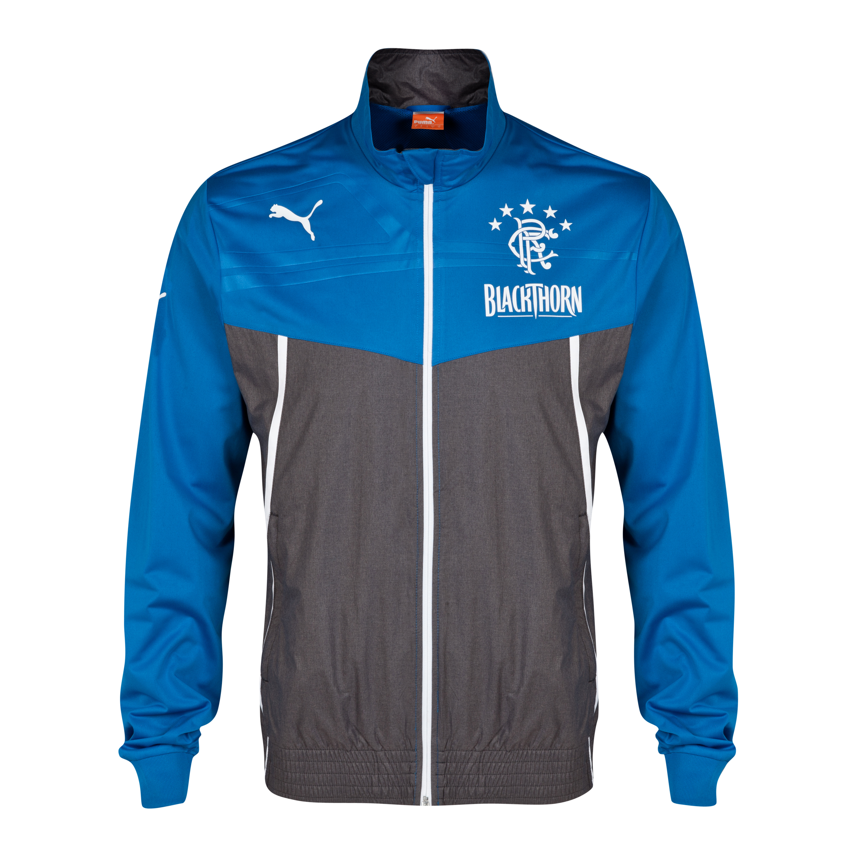 Glasgow Rangers King Walkout Jacket - Puma Royal/Dark Grey Heather Royal Blue