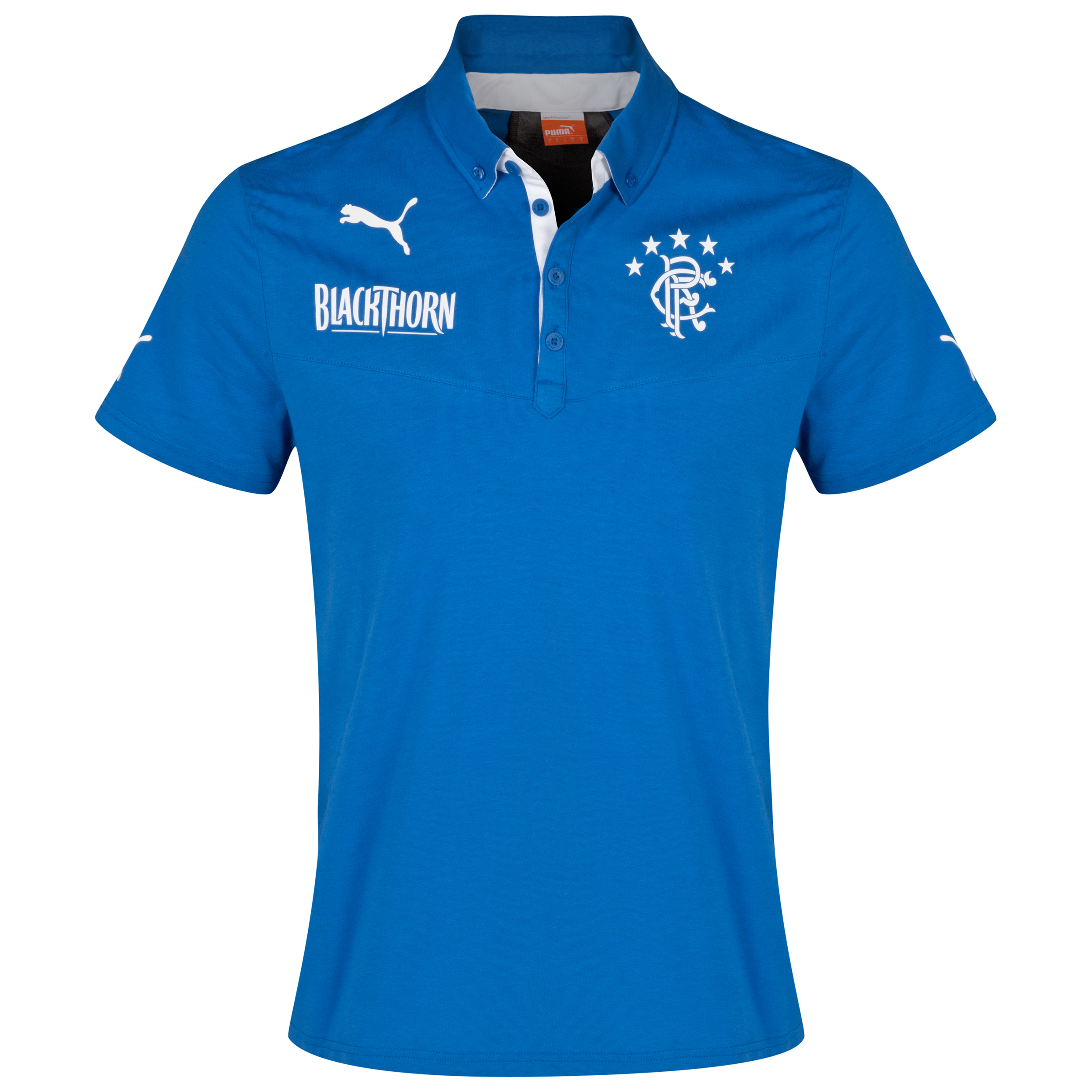 Glasgow Rangers King Polo - Puma Royal/Dark Grey Heather Royal Blue