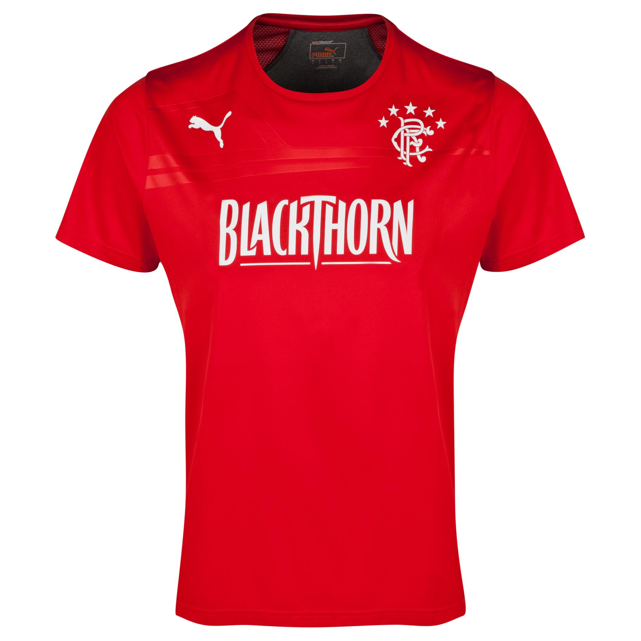 Glasgow Rangers King Performance T-Shirt - Puma Red/Dark Grey Heather Red