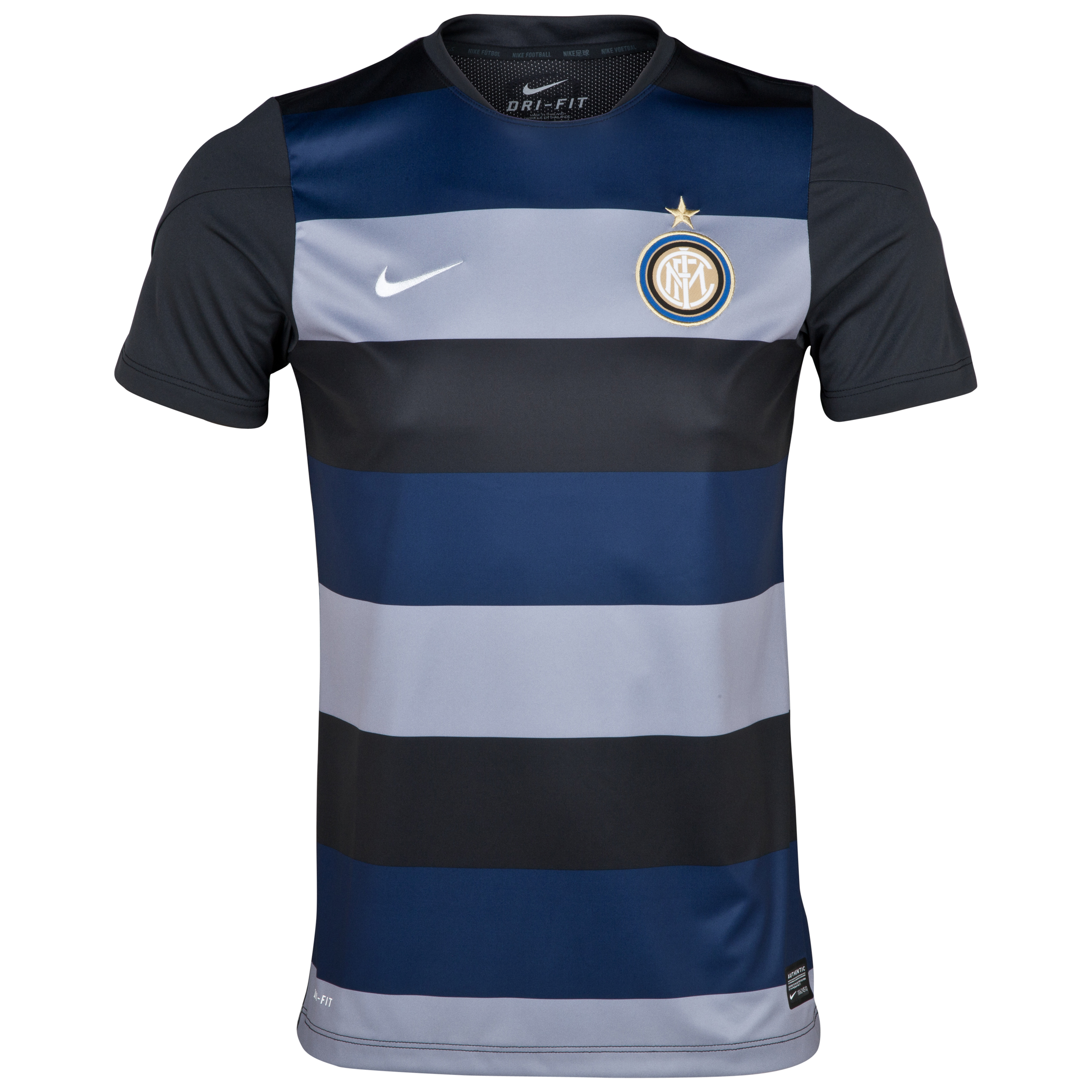 Inter Milan Squad Pre Match Top - Black/White Black