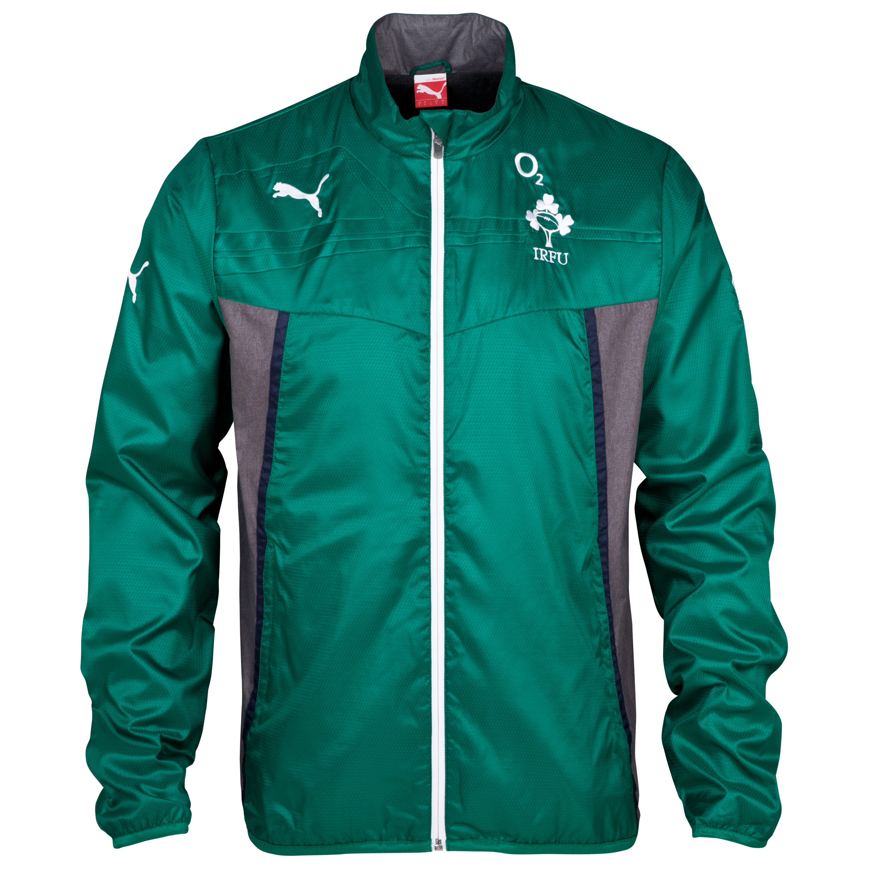 Ireland Presentation Jacket - Power Green/Dark Grey Heather Green