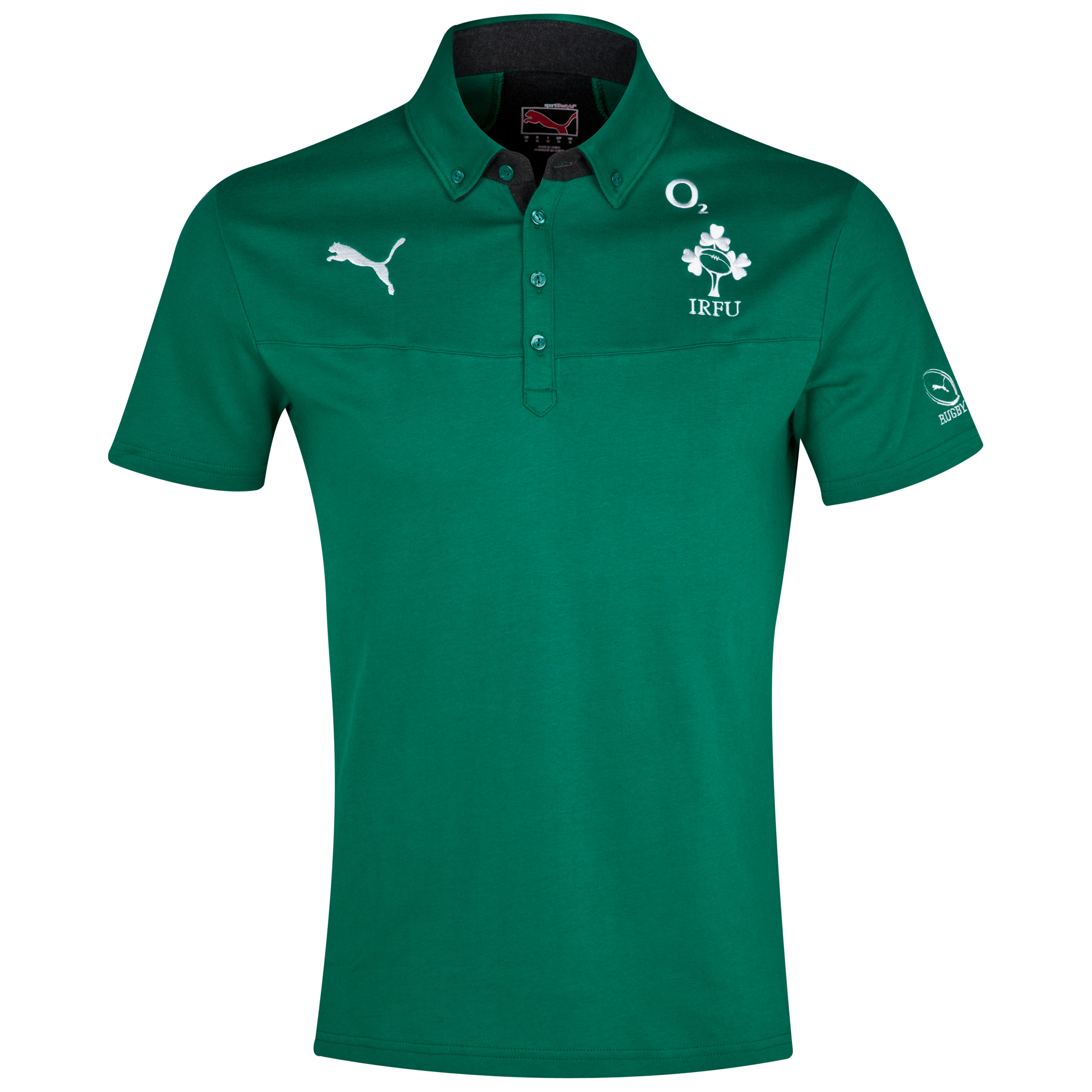 Ireland Polo - Power Green/Dark Grey Heather Green