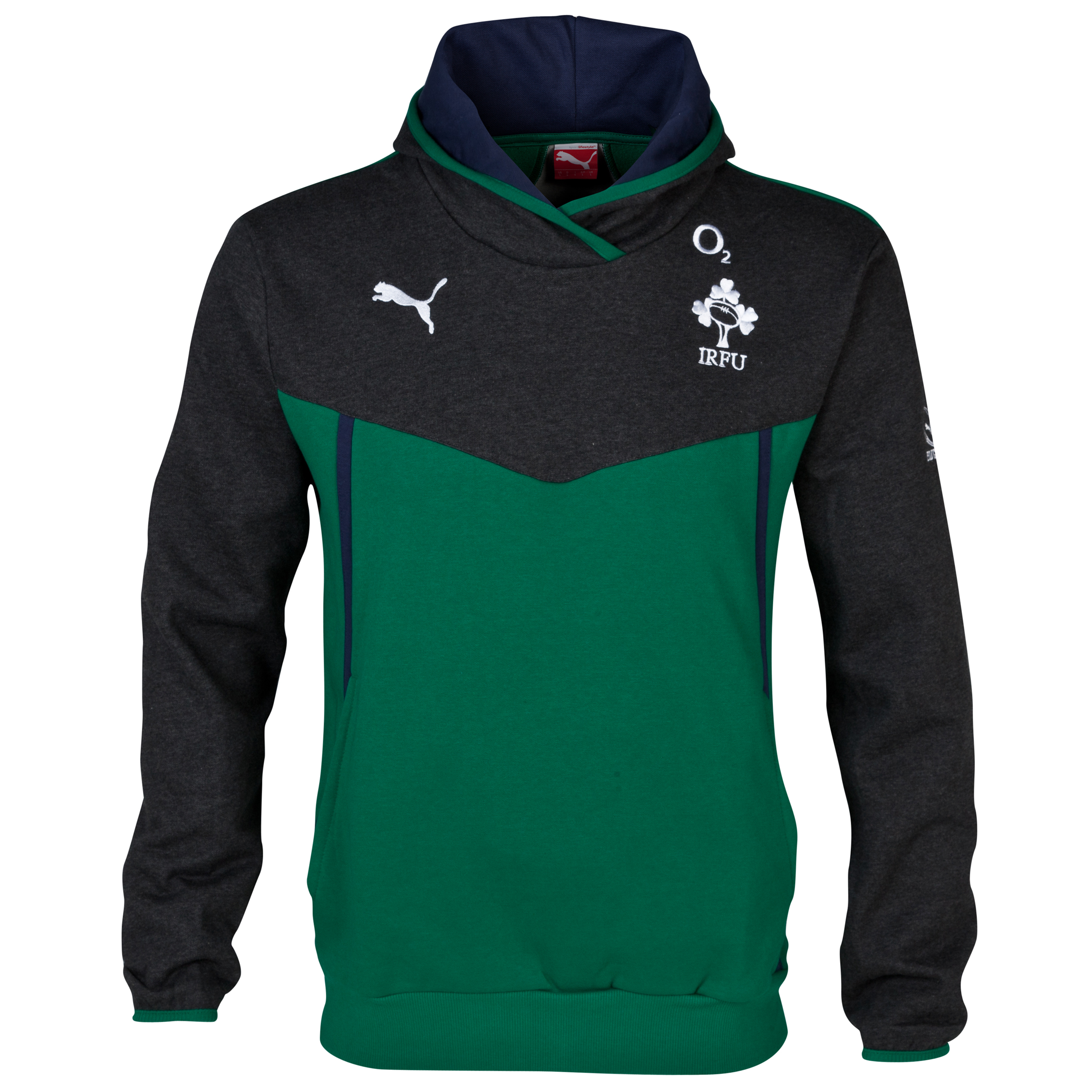 Ireland Overhead Hoodie - Power Green/Dark Grey Heather Green