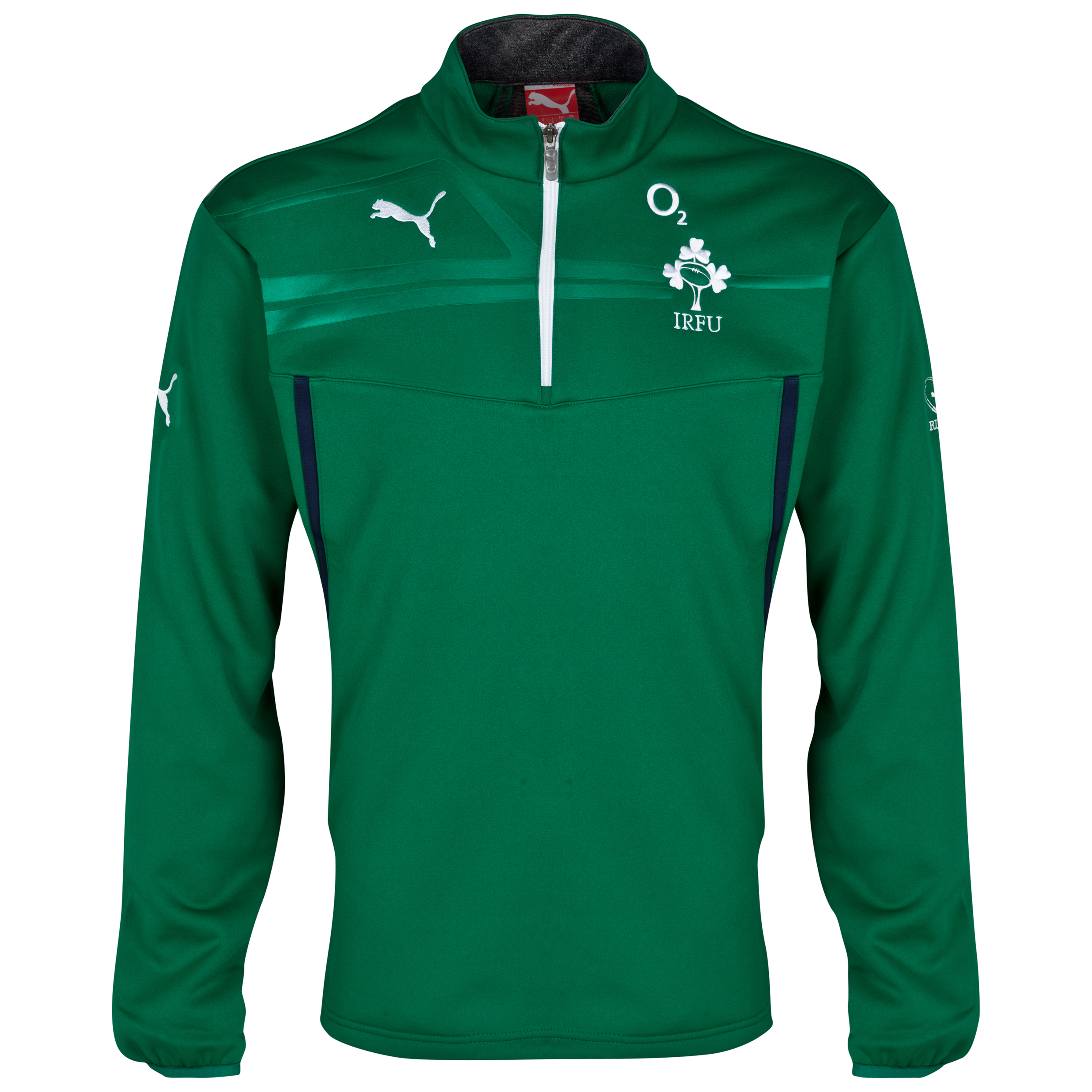 Ireland Fleece Training Top - Power Green/Peacoat Green