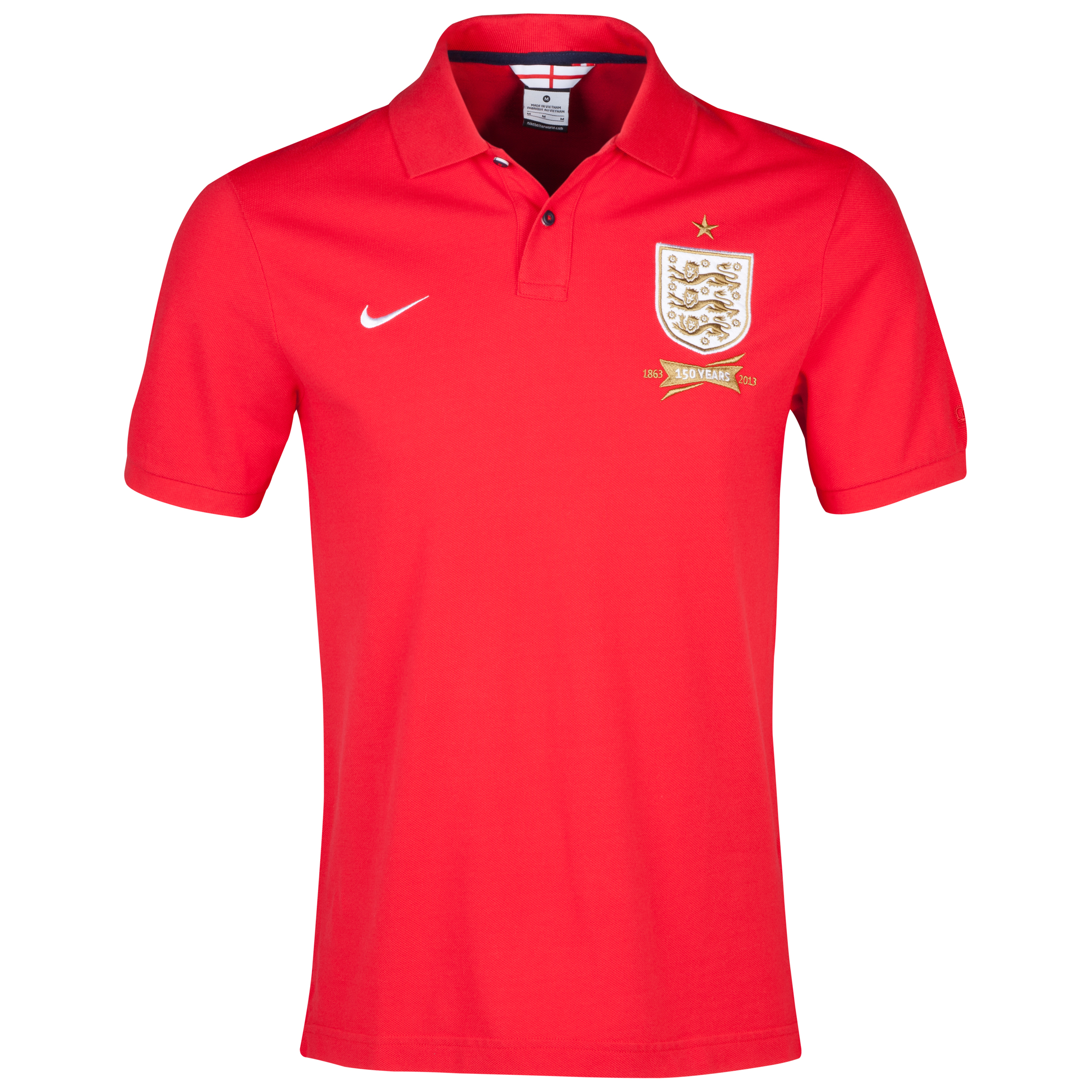 England Authentic Grand Slam Polo Red