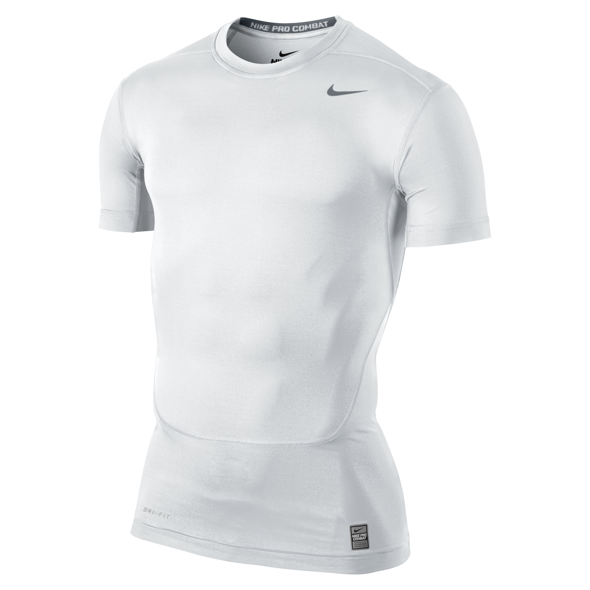 Nike Pro Combat Core Base Layer Top White