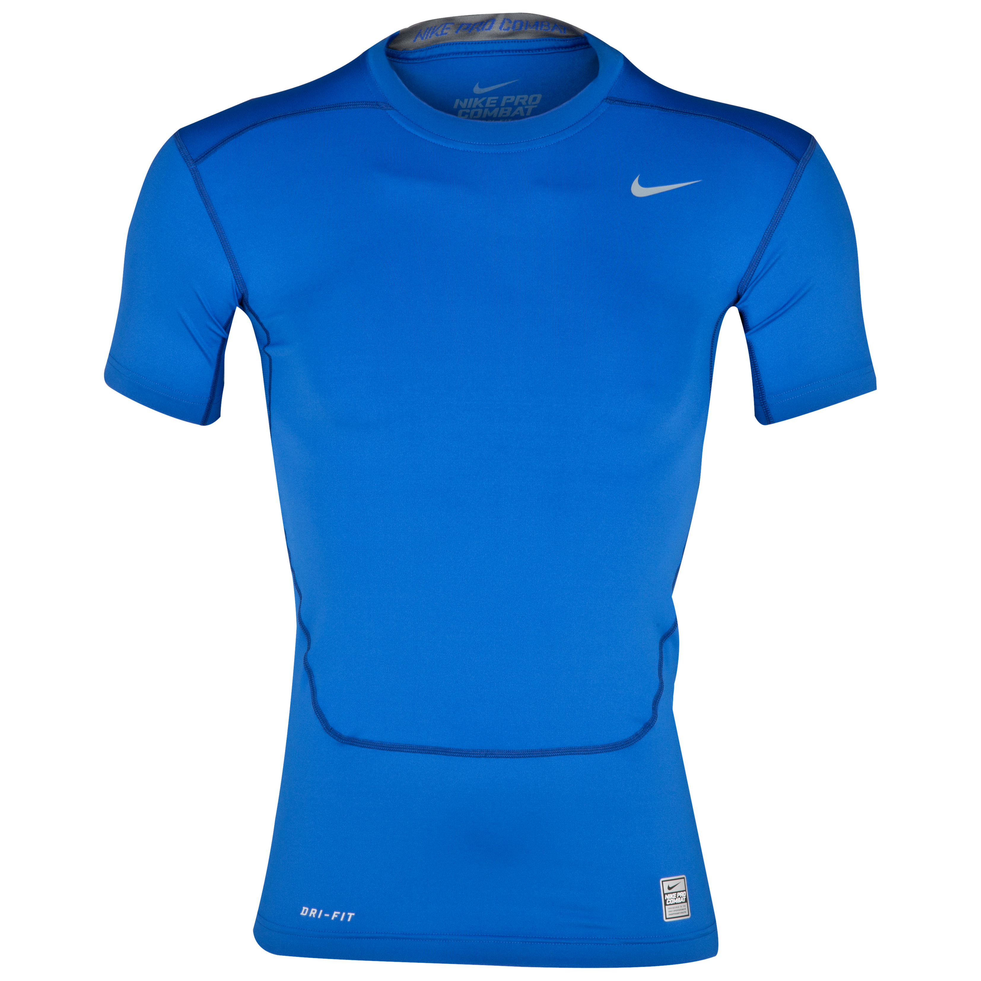 Nike Pro Combat Core Base Layer Top Blue
