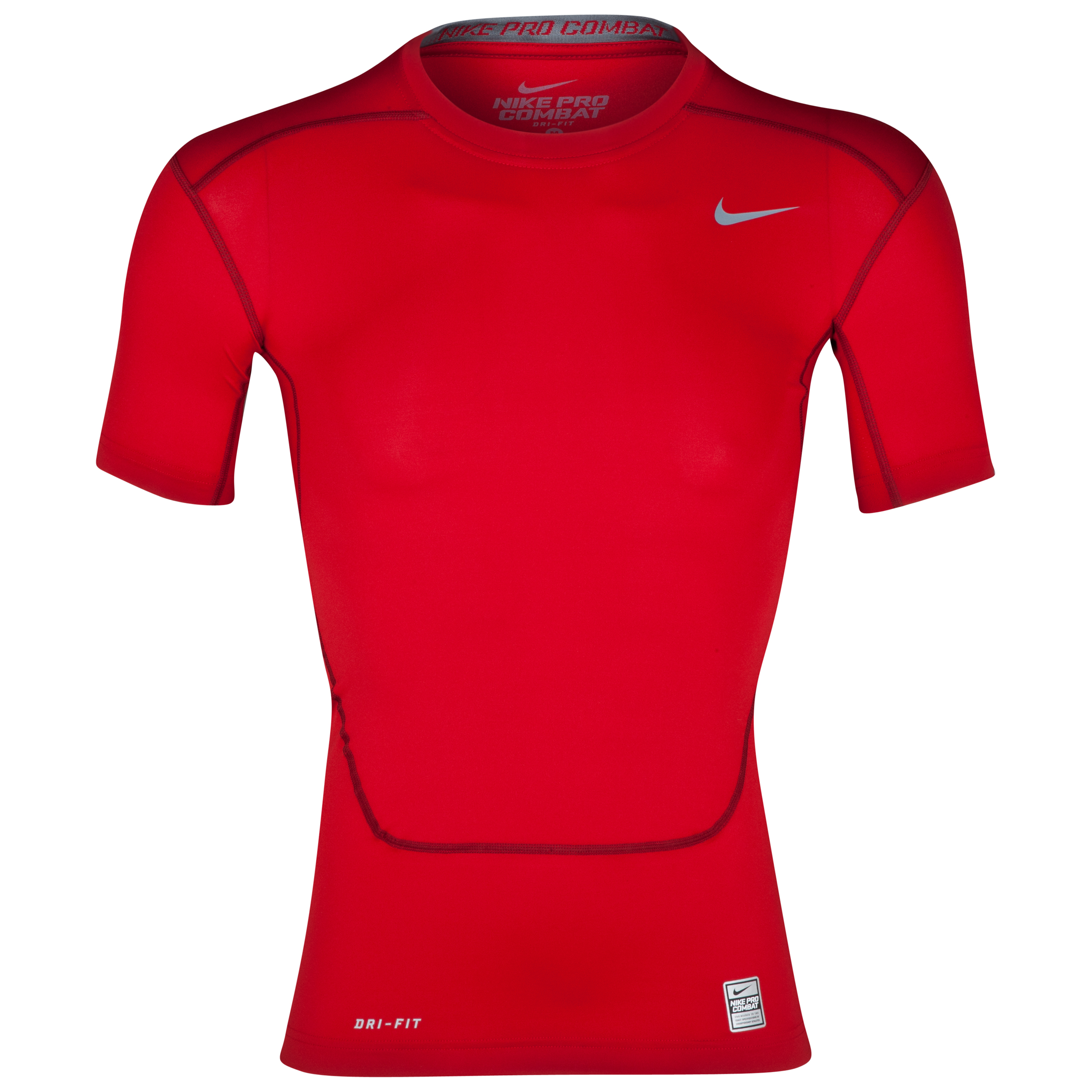 Nike Pro Combat Core Base Layer Top Red