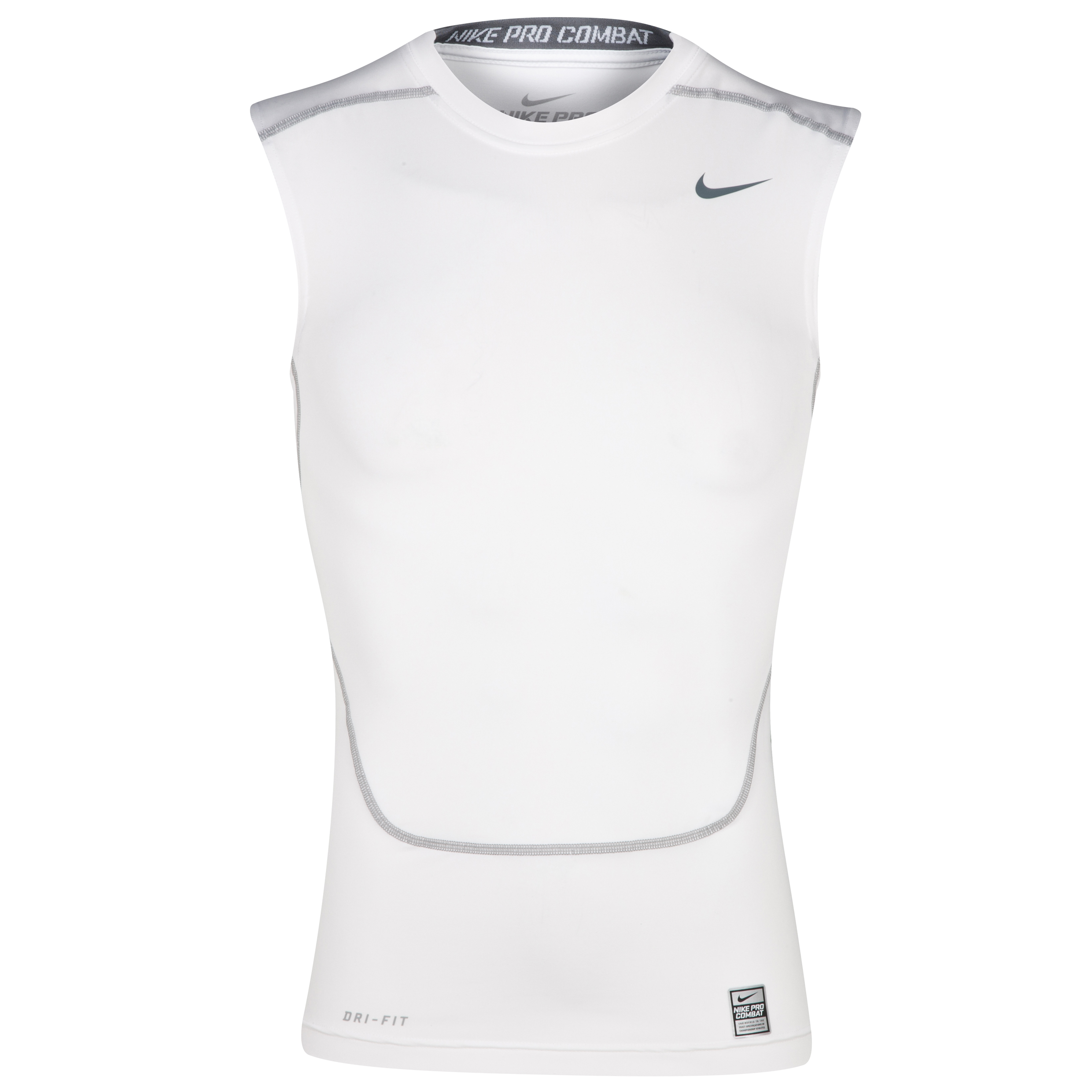 Nike Pro Combat Core Base Layer Top - Sleeveless White