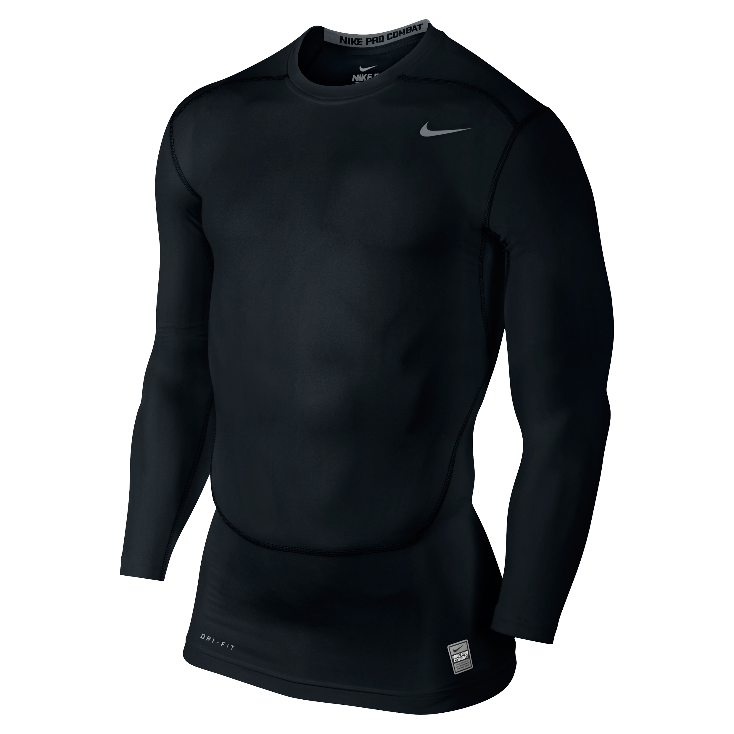 Nike Pro Combat Core Base Layer Top - Long Sleeve Black