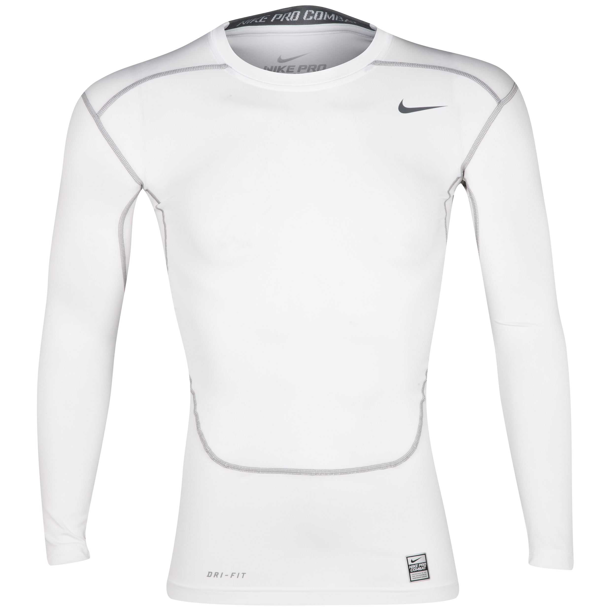 Nike Pro Combat Core Base Layer Top - Long Sleeve White