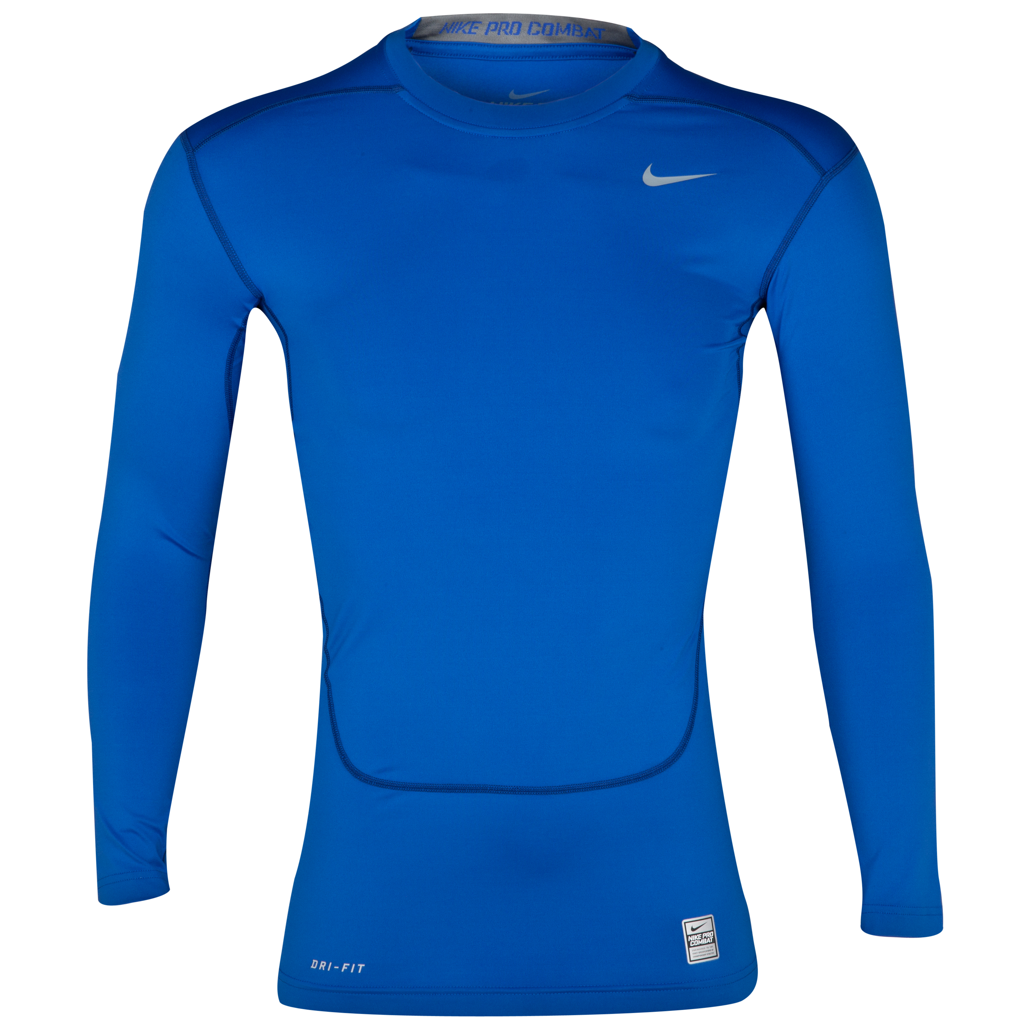 Nike Pro Combat Core Base Layer Top - Long Sleeve Blue