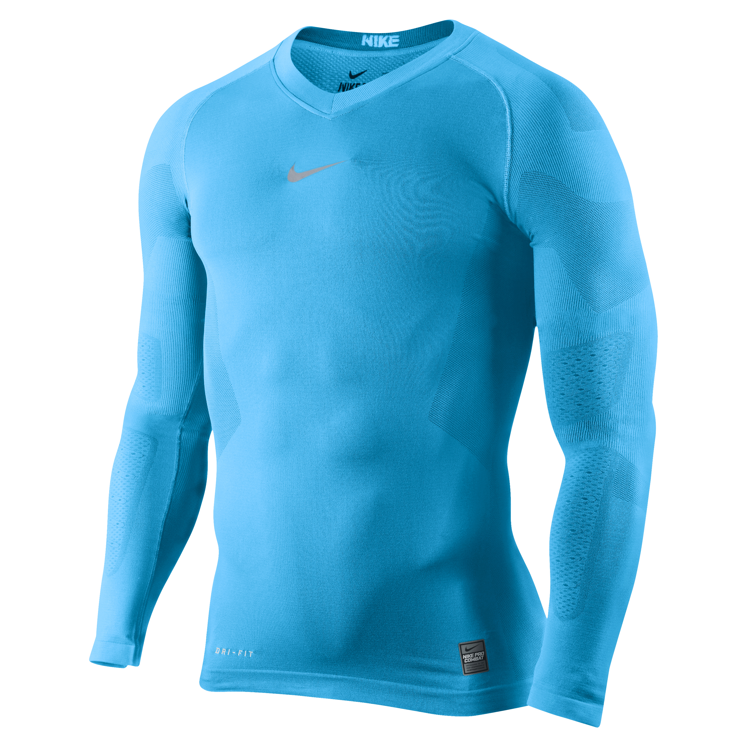 Nike Pro Combat Hypercool Vapor Base Layer Top - Long Sleeve Blue