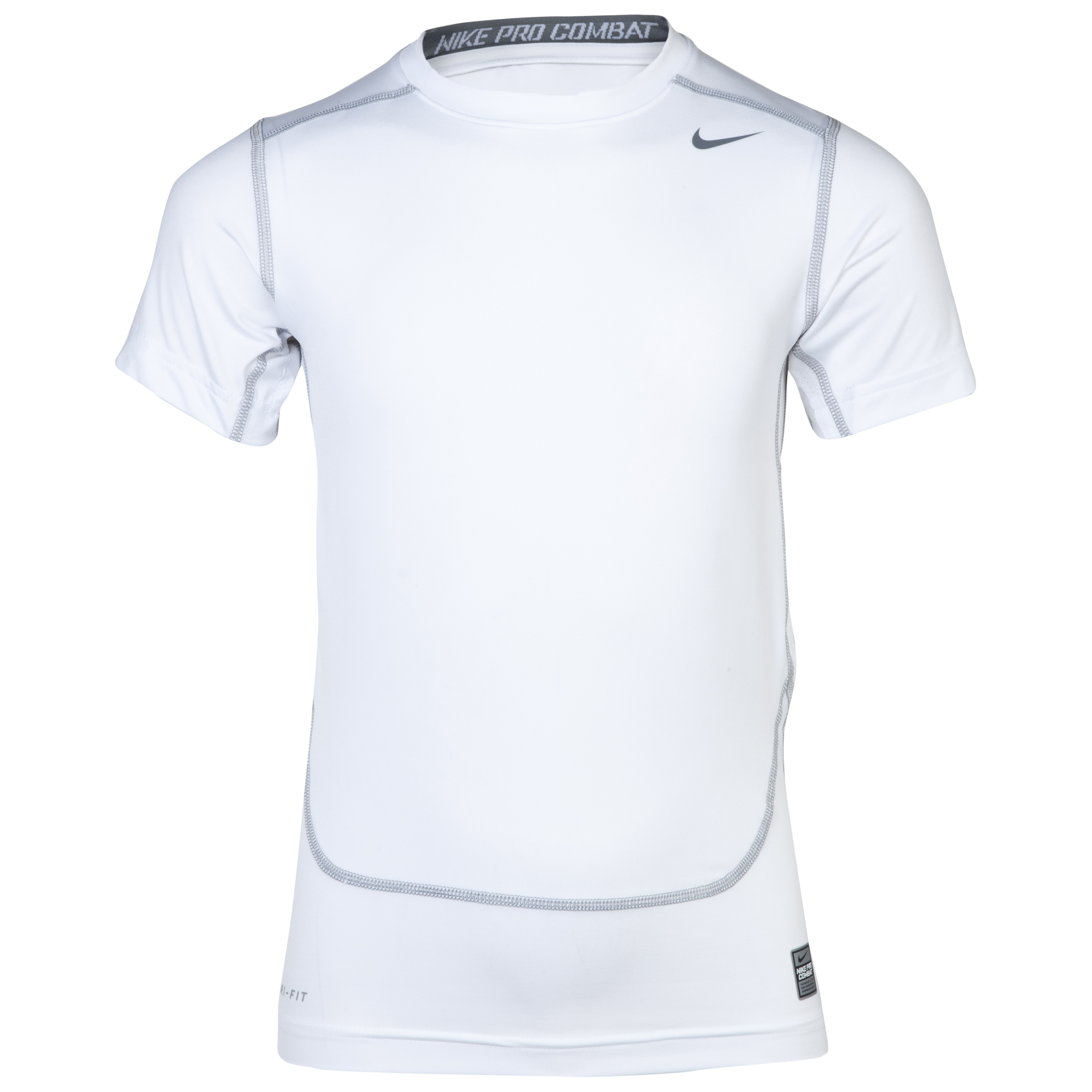 Nike Pro Combat Core Base Layer Top - Kids White