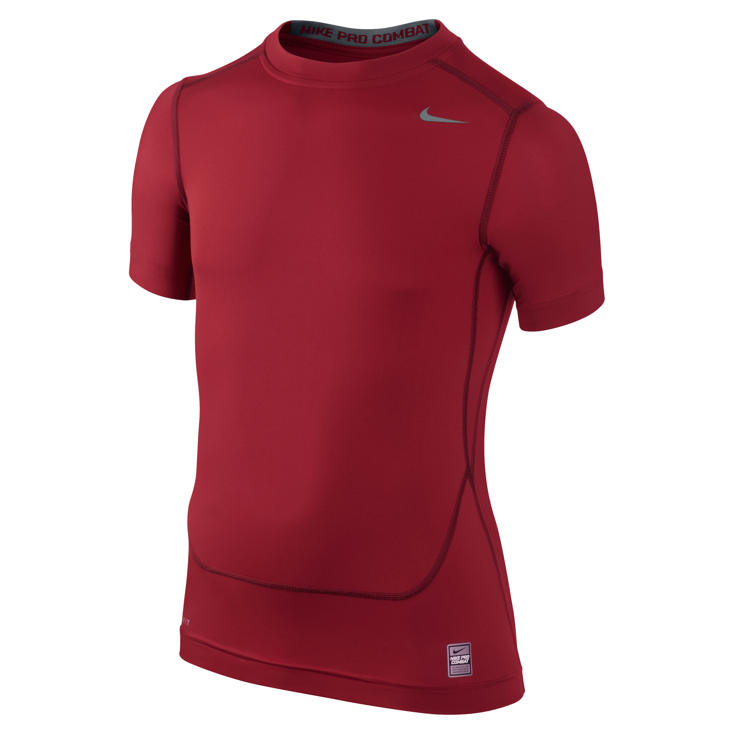 Nike Pro Combat Core Base Layer Top - Kids Red
