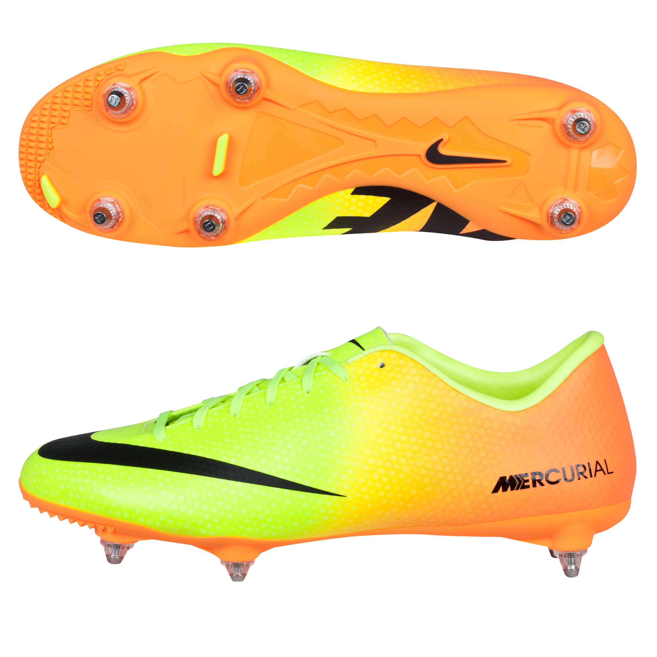 Nike Mercurial Victory IV Soft Ground Football Boots Yellow