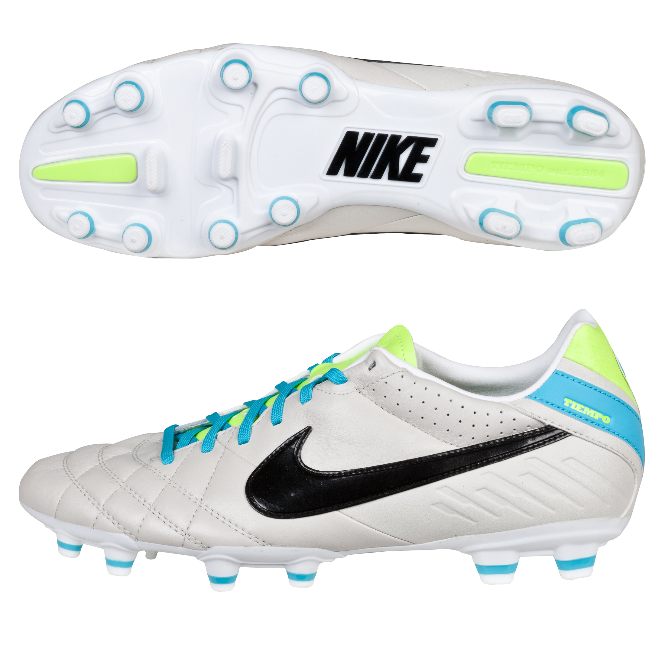 Nike Tiempo Mystic IV Firm Ground Football Boots Lt Grey