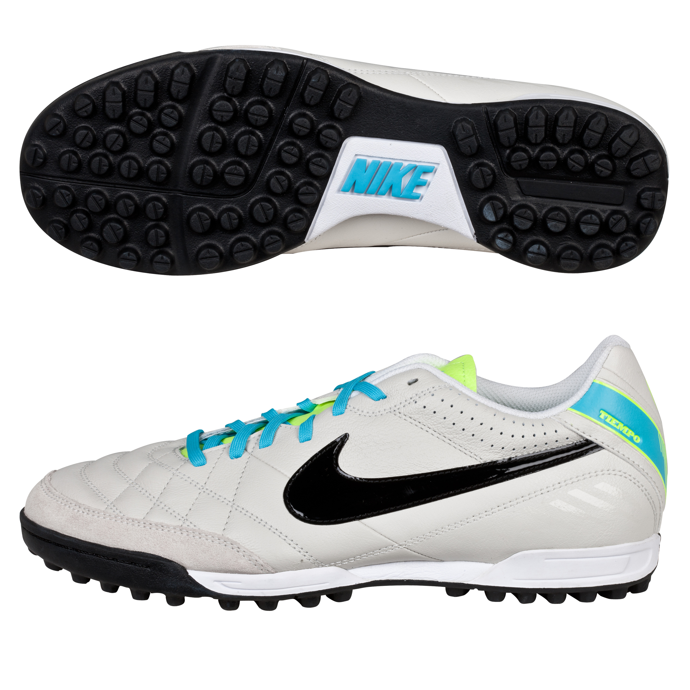 Nike Tiempo Natural IV Astroturf Trainers Lt Grey