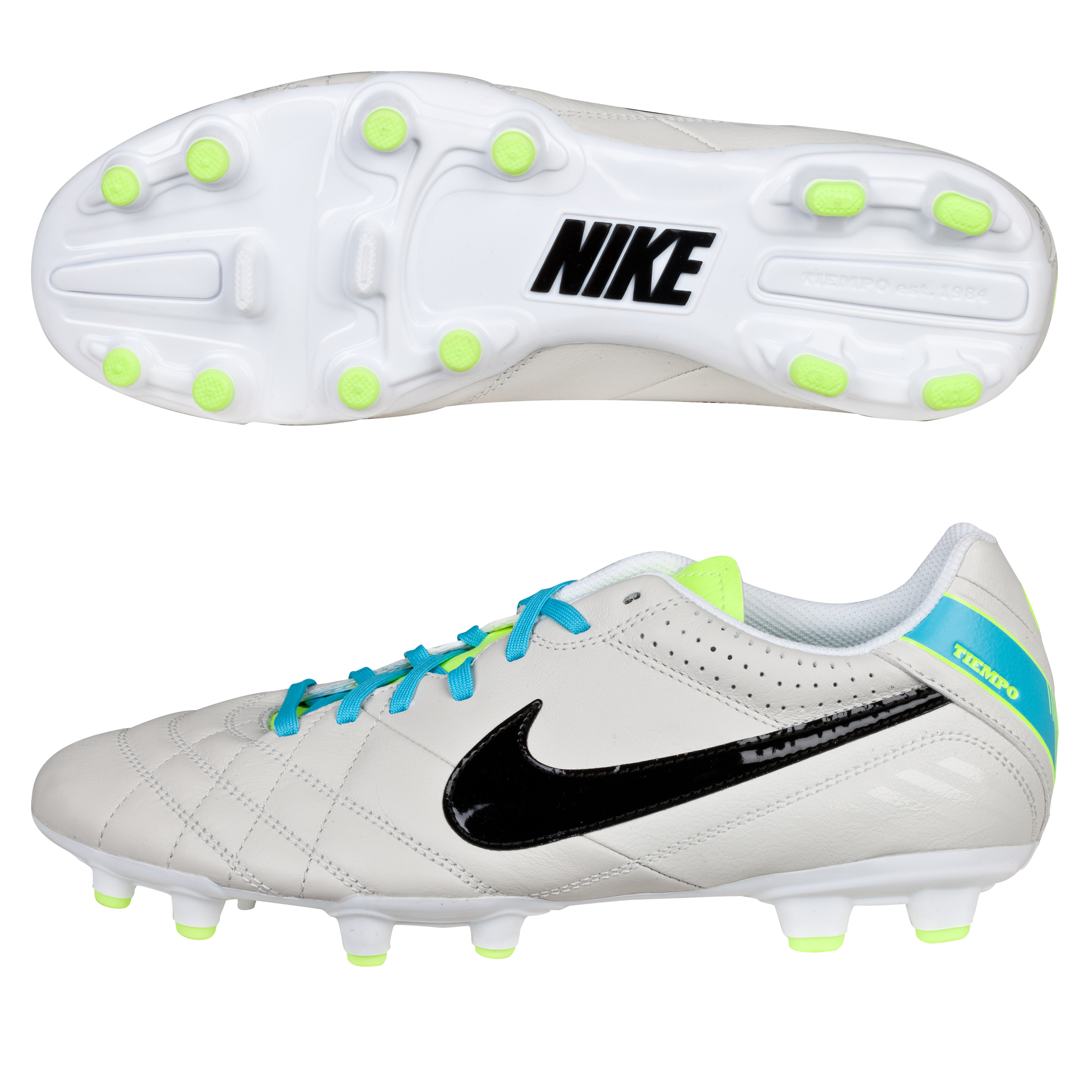 Nike Tiempo Natural IV Firm Ground Football Boots Lt Grey