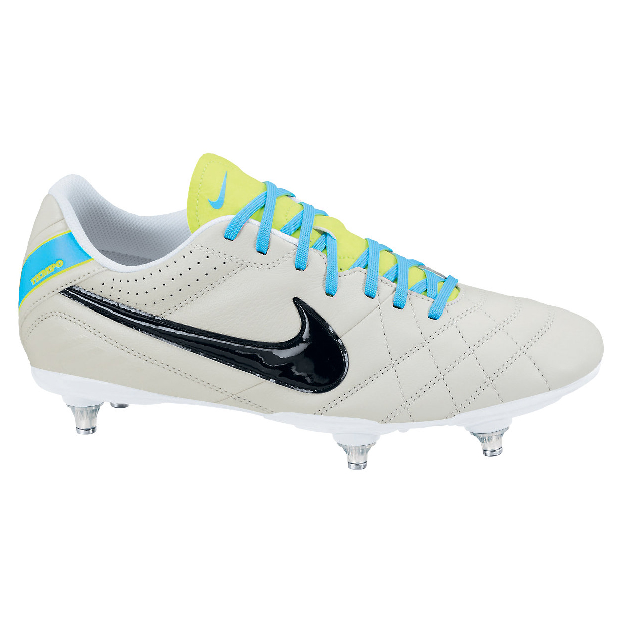 Nike Tiempo Natural IV Soft Ground Football Boots Lt Grey