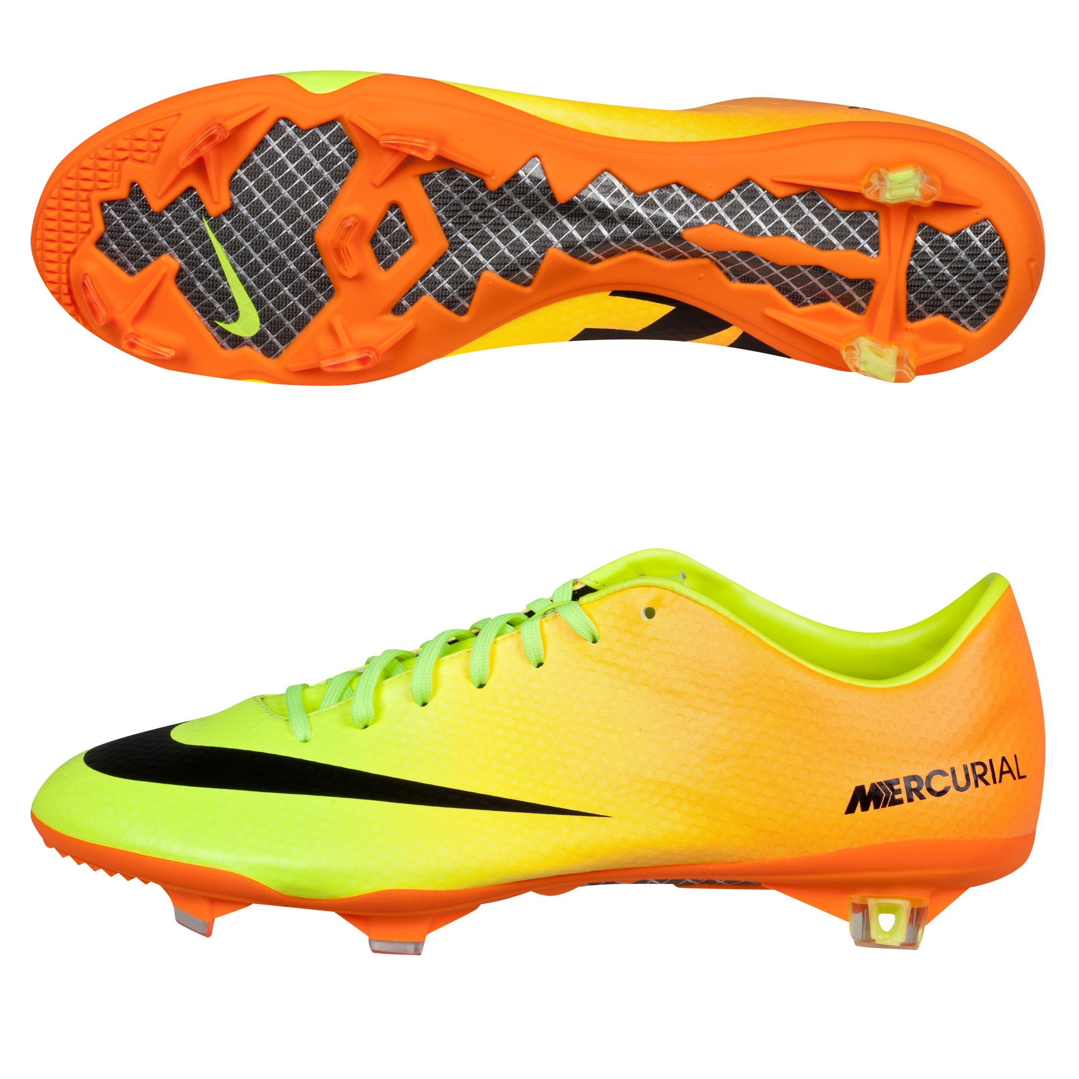 Nike Mercurial Vapor IX Firm Ground Pro Football Boots Yellow