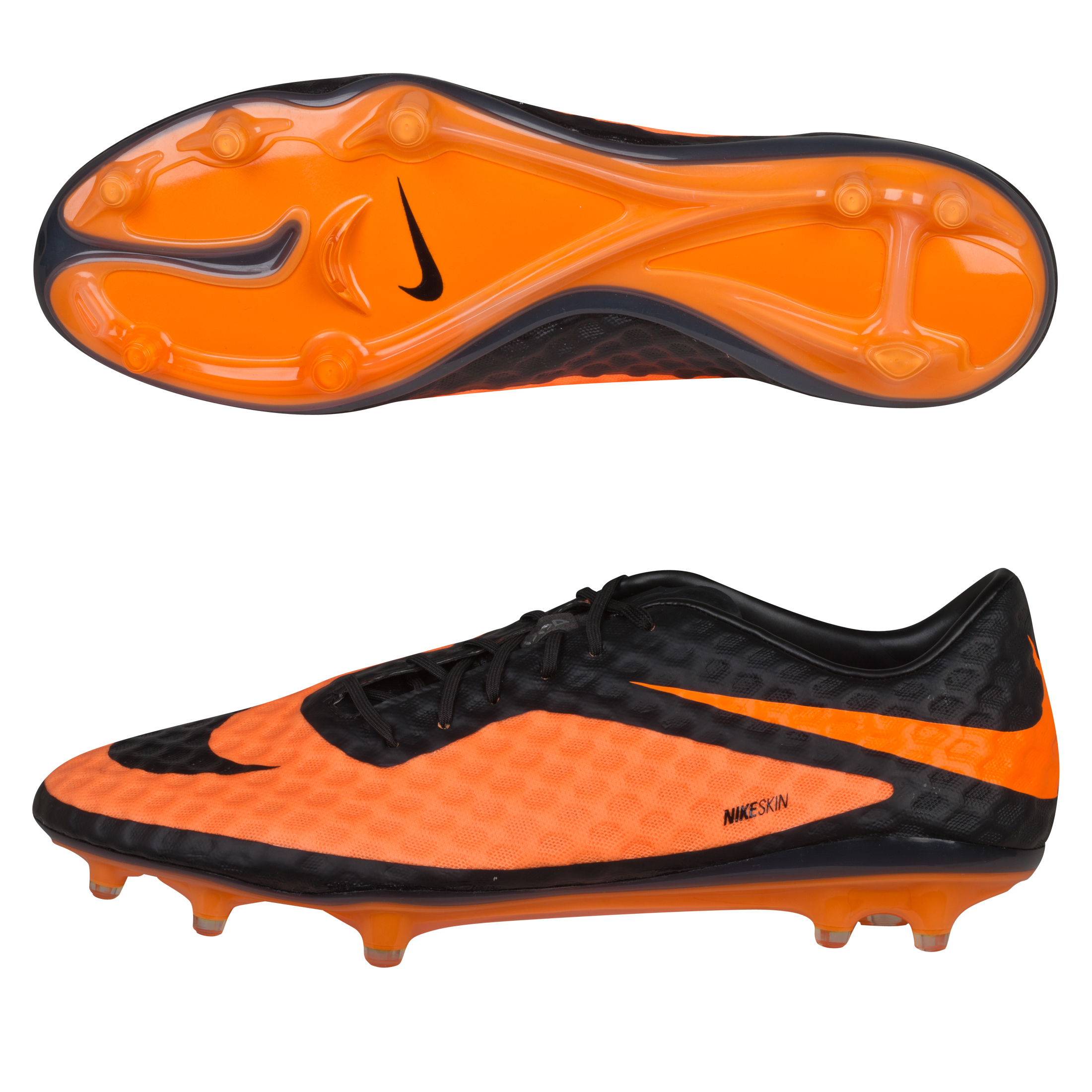 Nike Hypervenom Phantom Firm Ground Football Boots Black