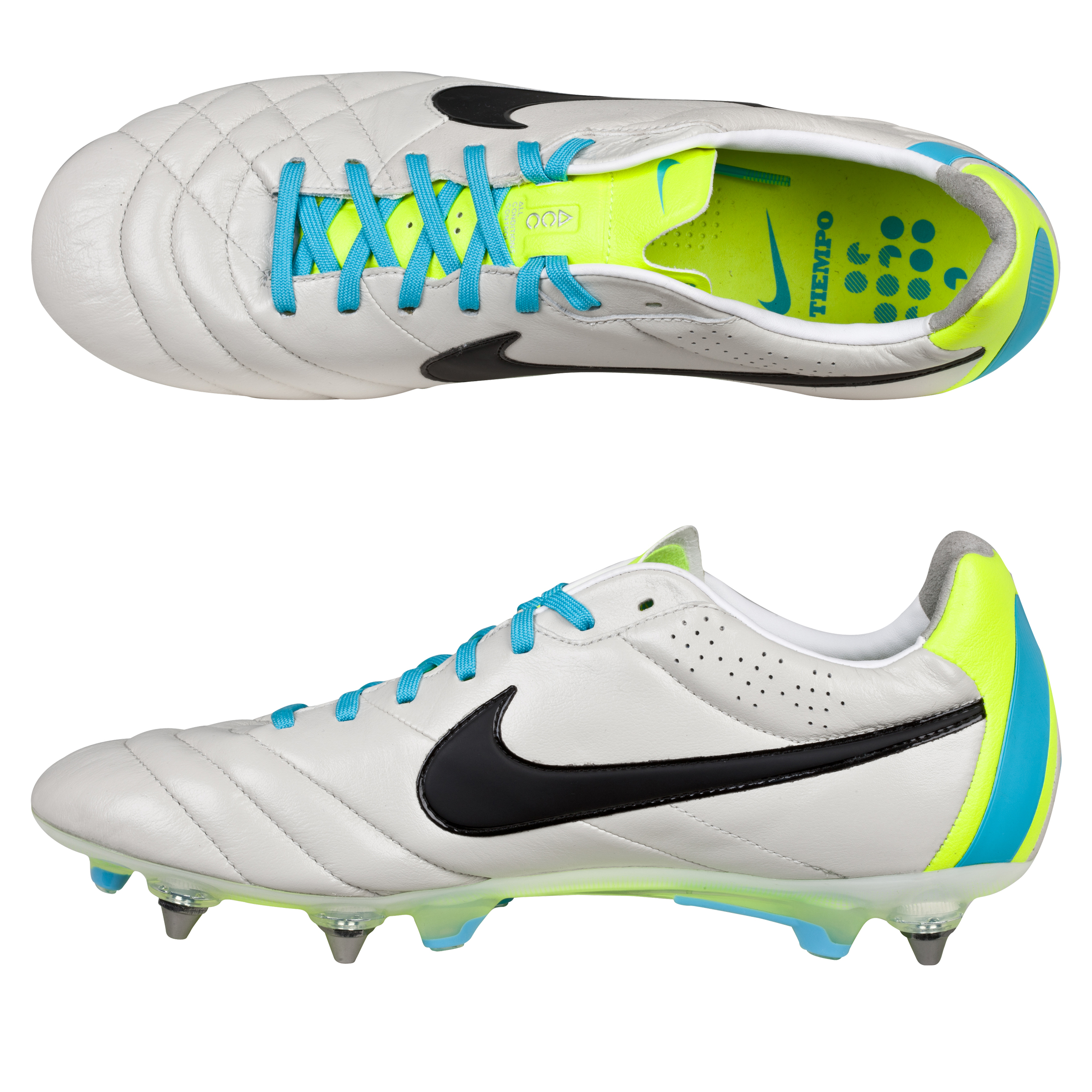 Nike Tiempo Legend IV Soft Ground Pro Football Boots Lt Grey