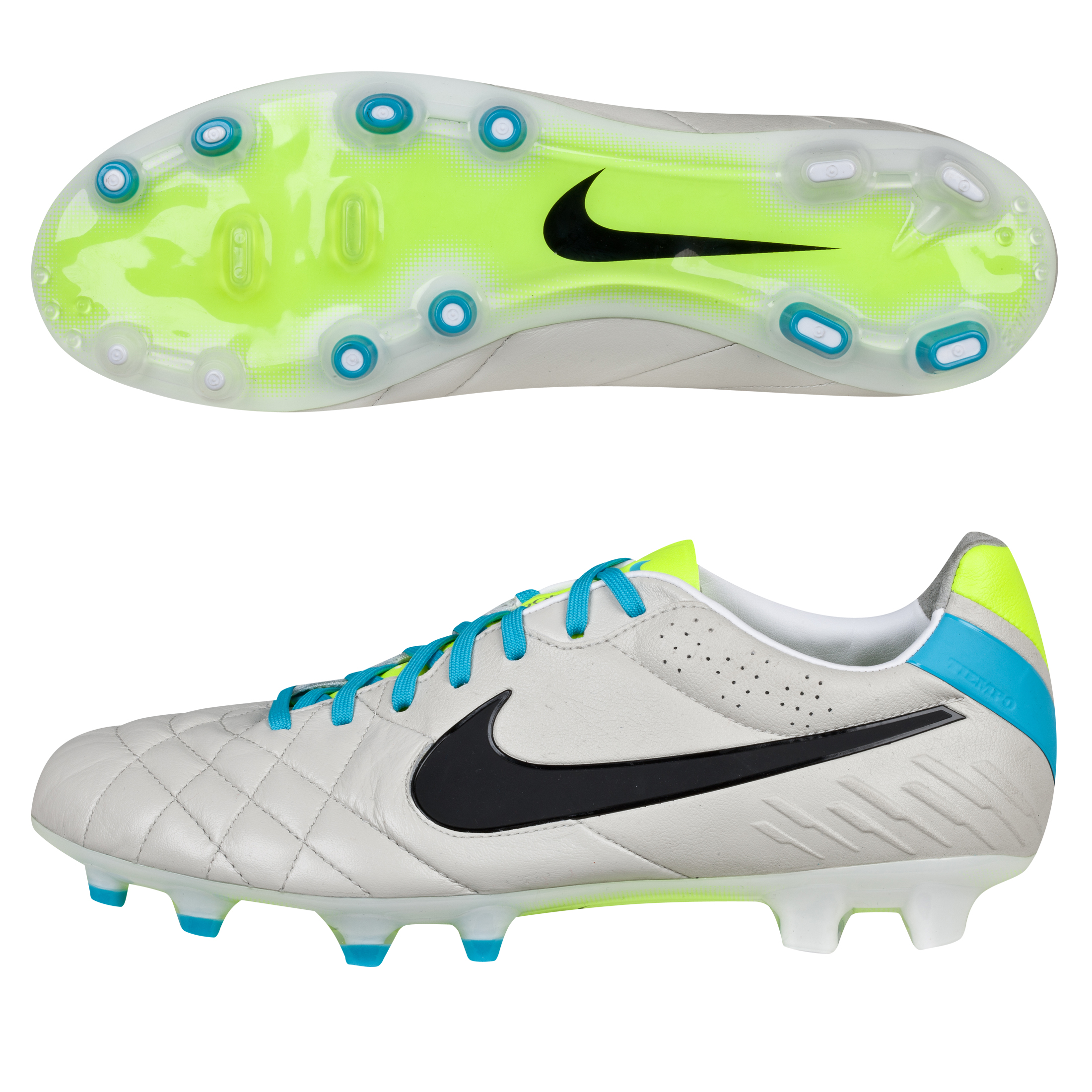 Nike Tiempo Legend IV Firm Ground Football Boots Lt Grey