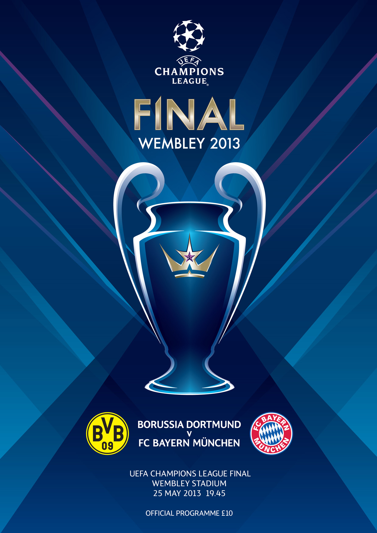 UEFA Champions League Final 2013 Programme