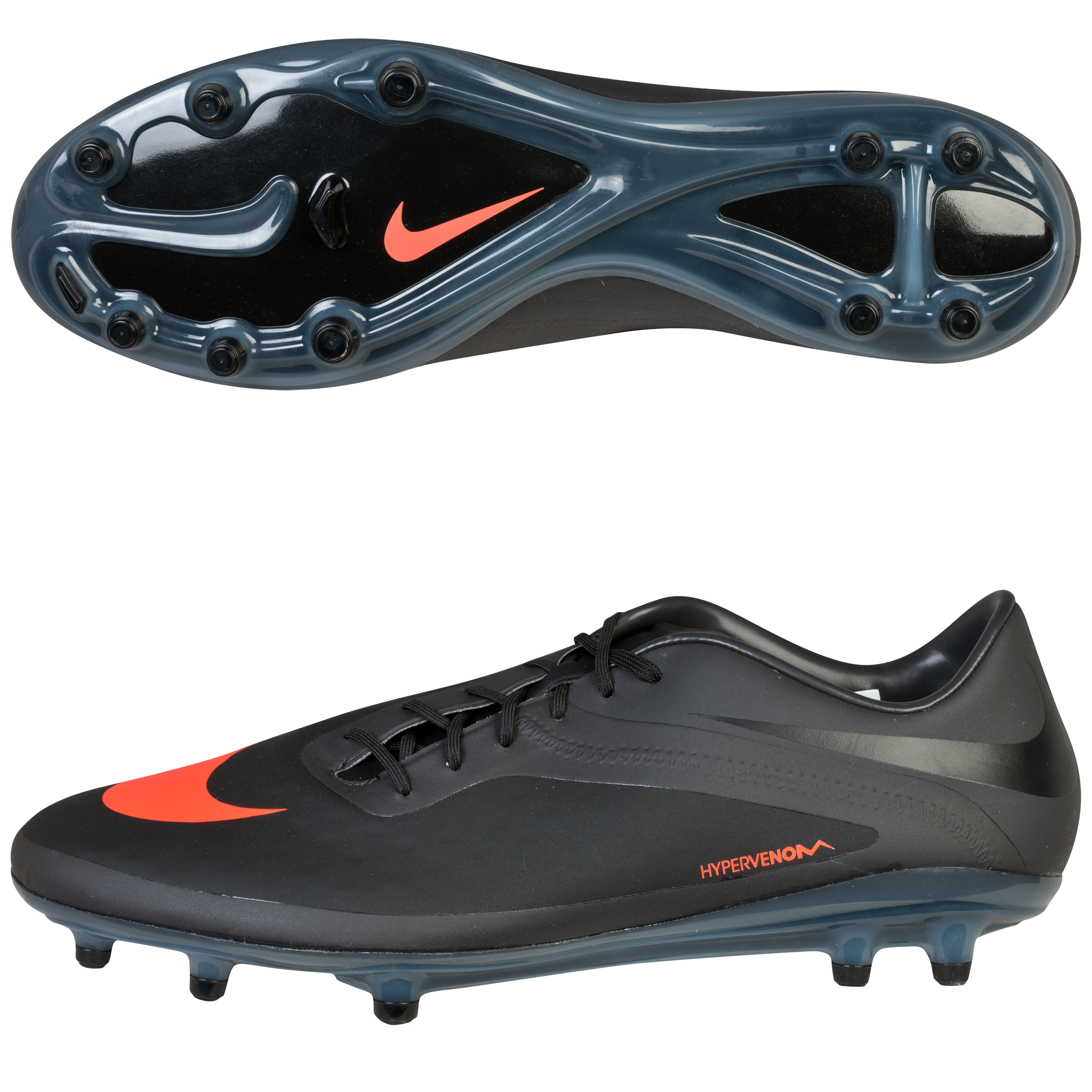 Nike Hypervenom Phatal Firm Ground Football Boots Dk Grey