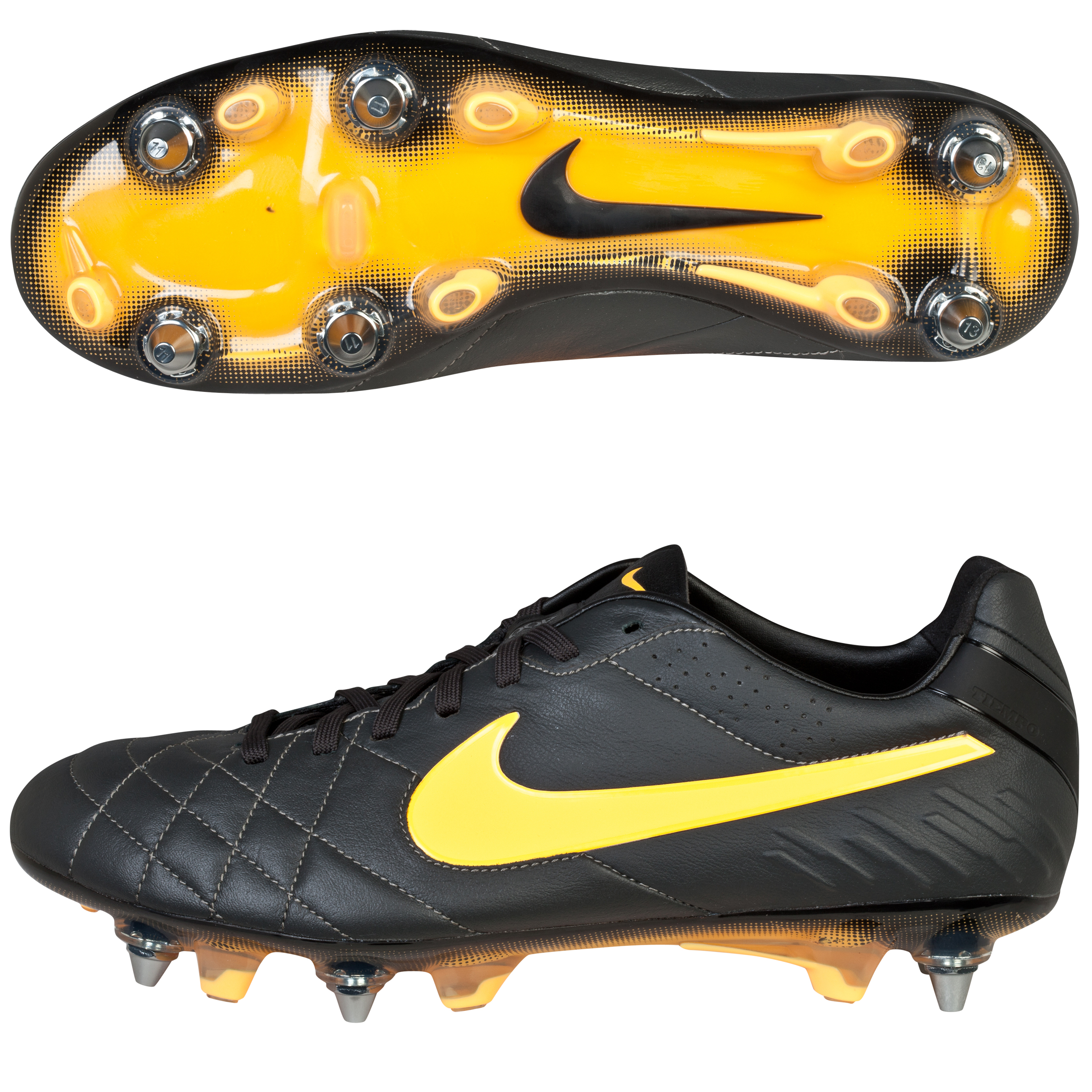 Nike Tiempo Legend IV Soft Ground Pro Football Boots Dk Grey