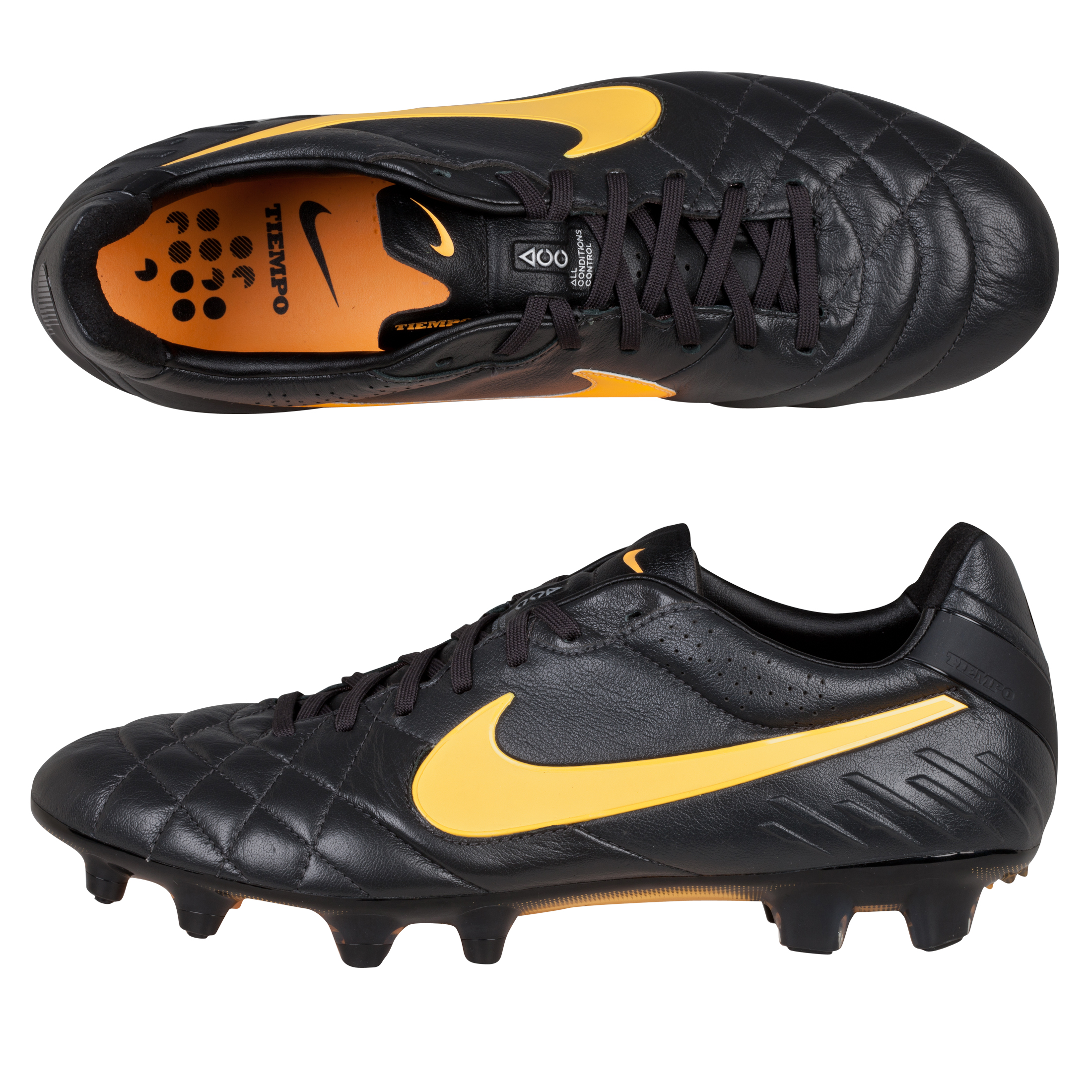Nike Tiempo Legend IV Firm Ground Football Boots Dk Grey