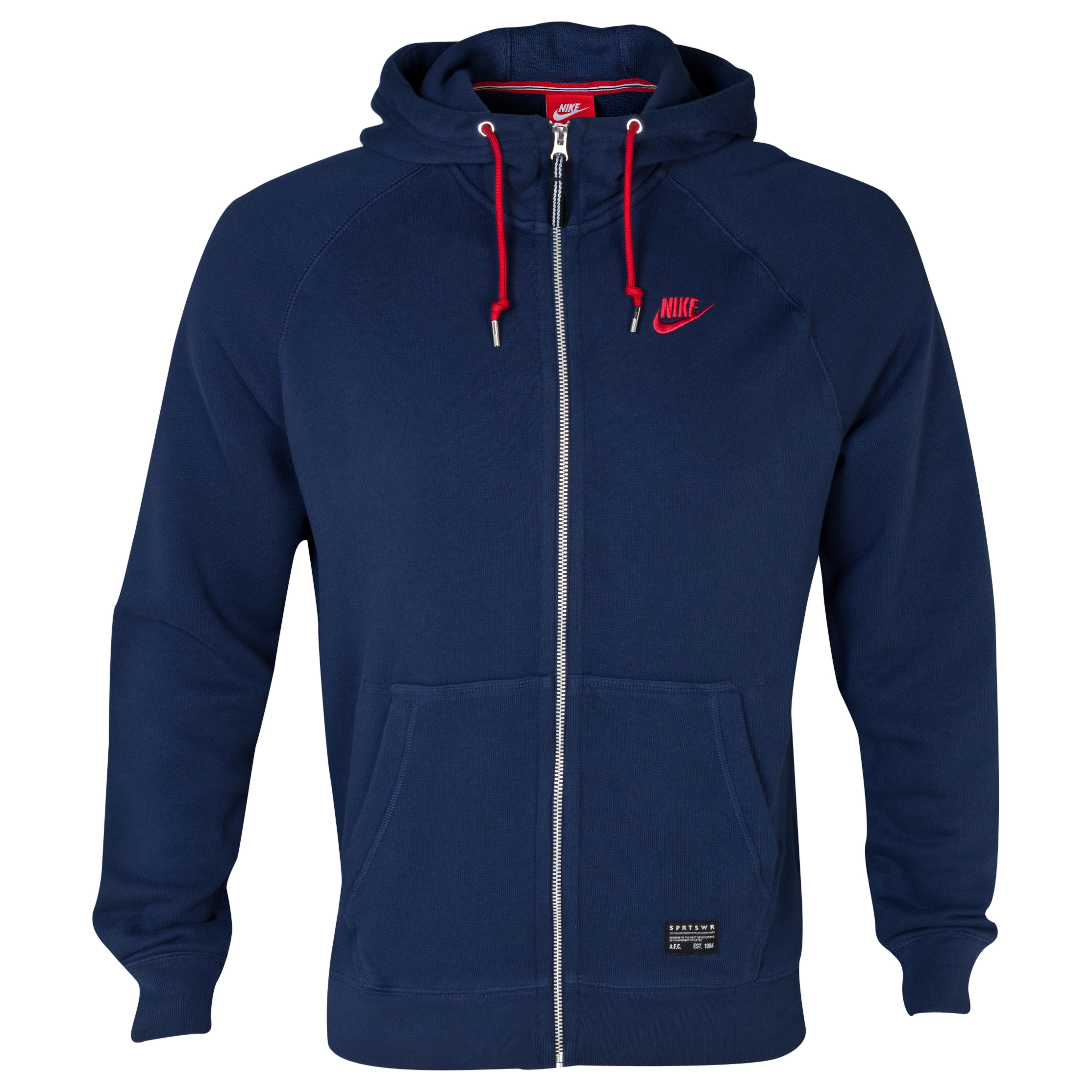 Arsenal Covert AW77 Full Zip Hoody Navy