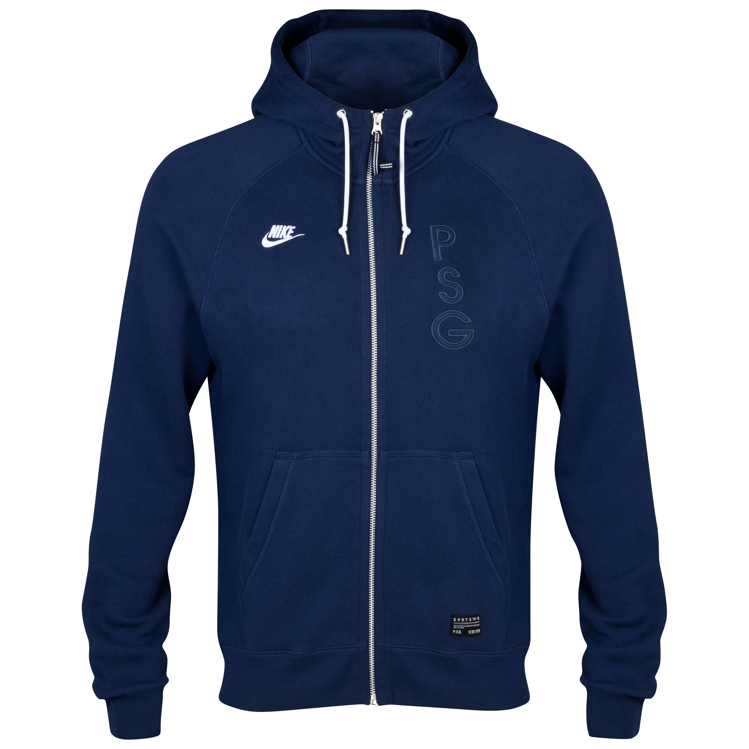 Paris Saint-Germain Covert AW77 Full Zip Hoody Navy