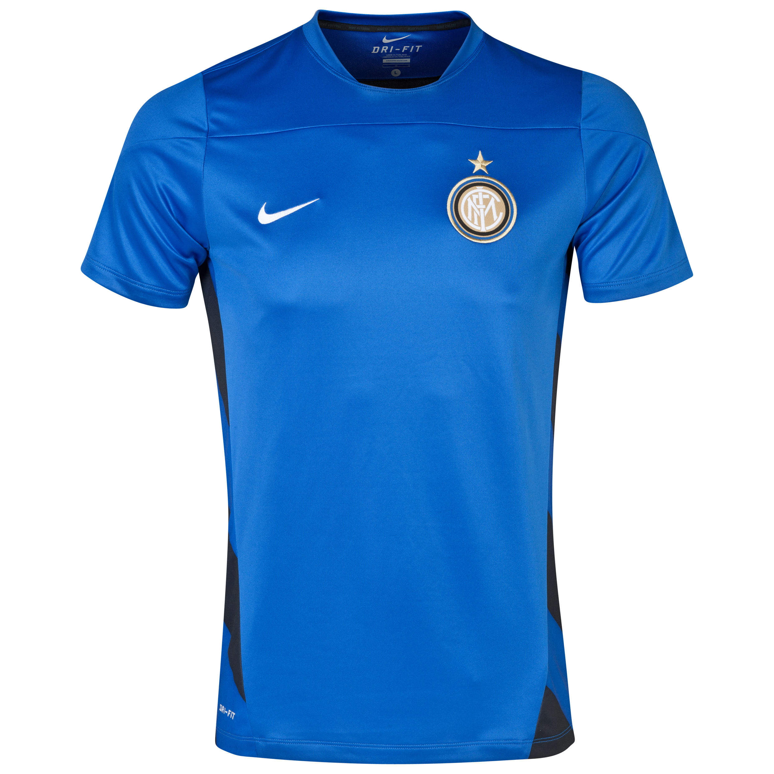 Inter Milan UEFA Champions League Squad Short Sleeve Training Top Blue