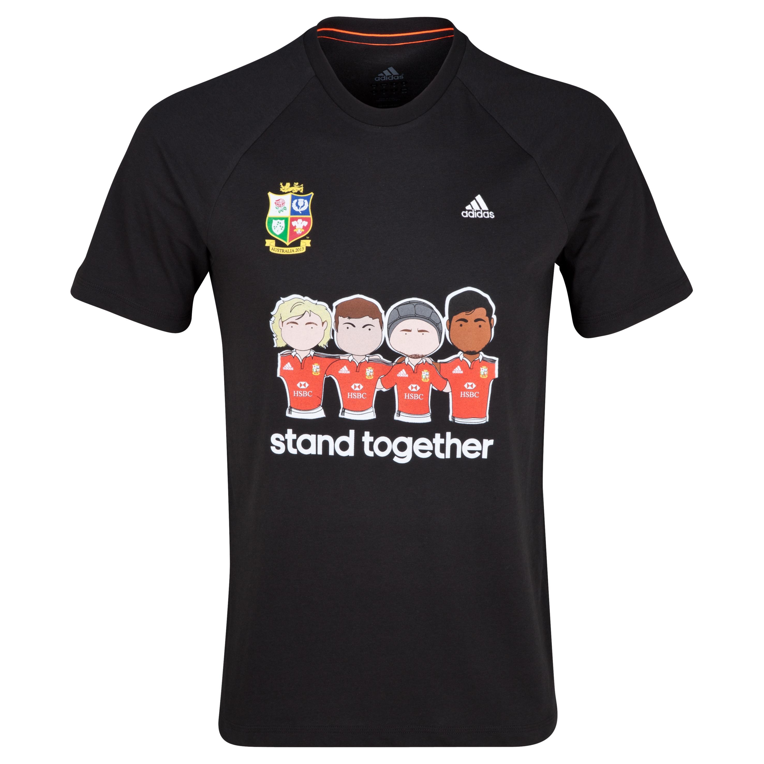 British & Irish Lions adidas Campaign T-Shirt Black